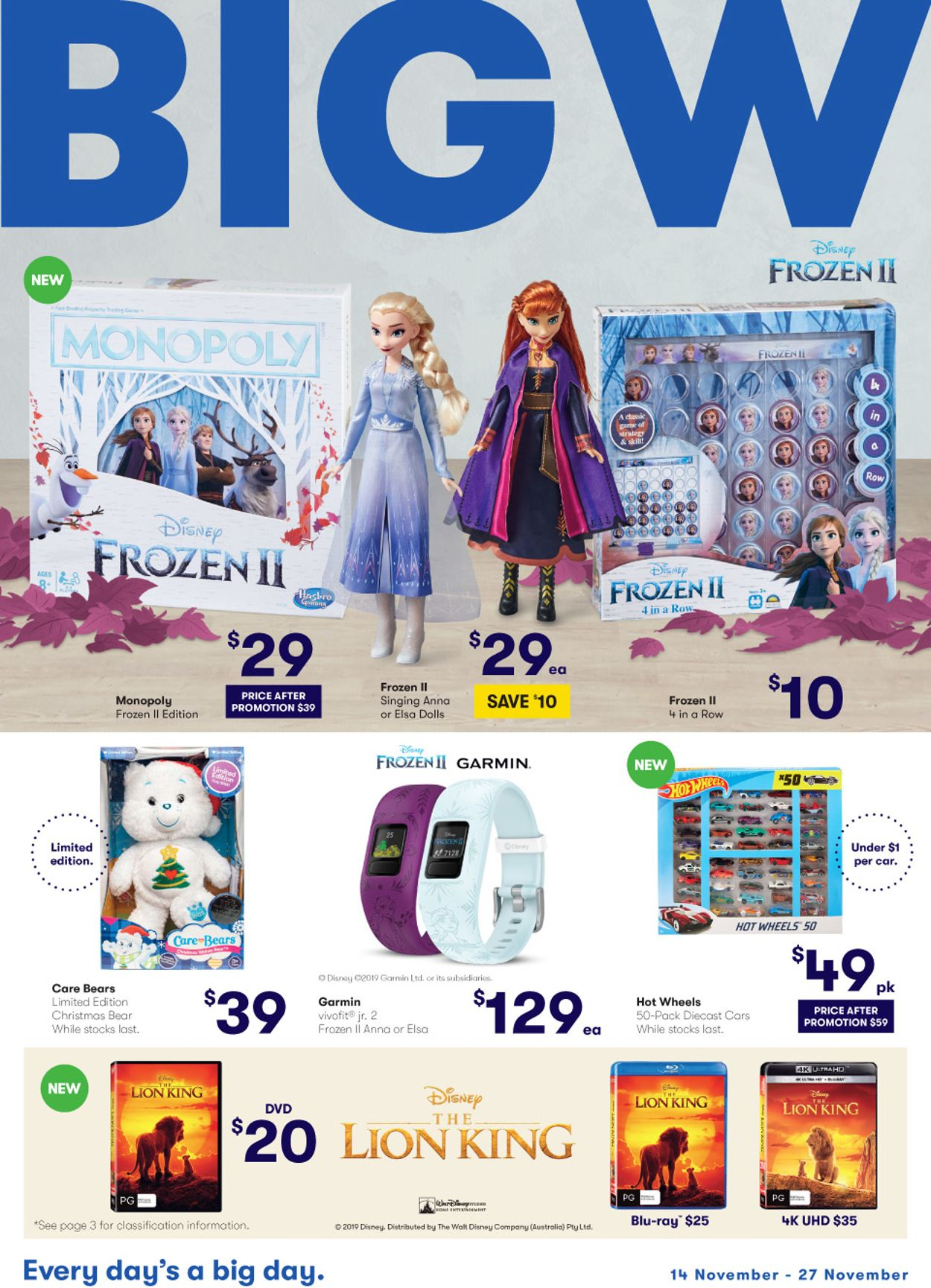 BIG W Catalogue - 14/11-27/11/2019
