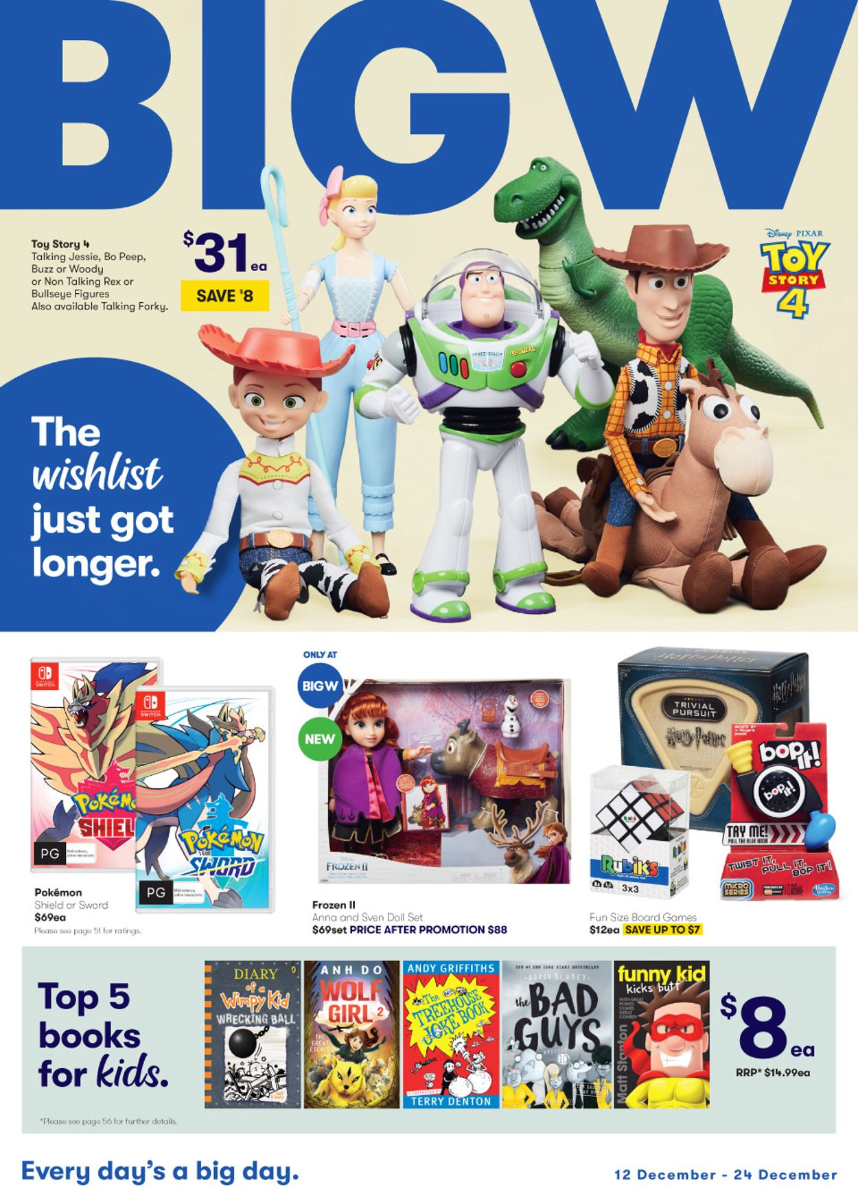 BIG W Christmas Catalogue 2019 Catalogue - 12/12-24/12/2019