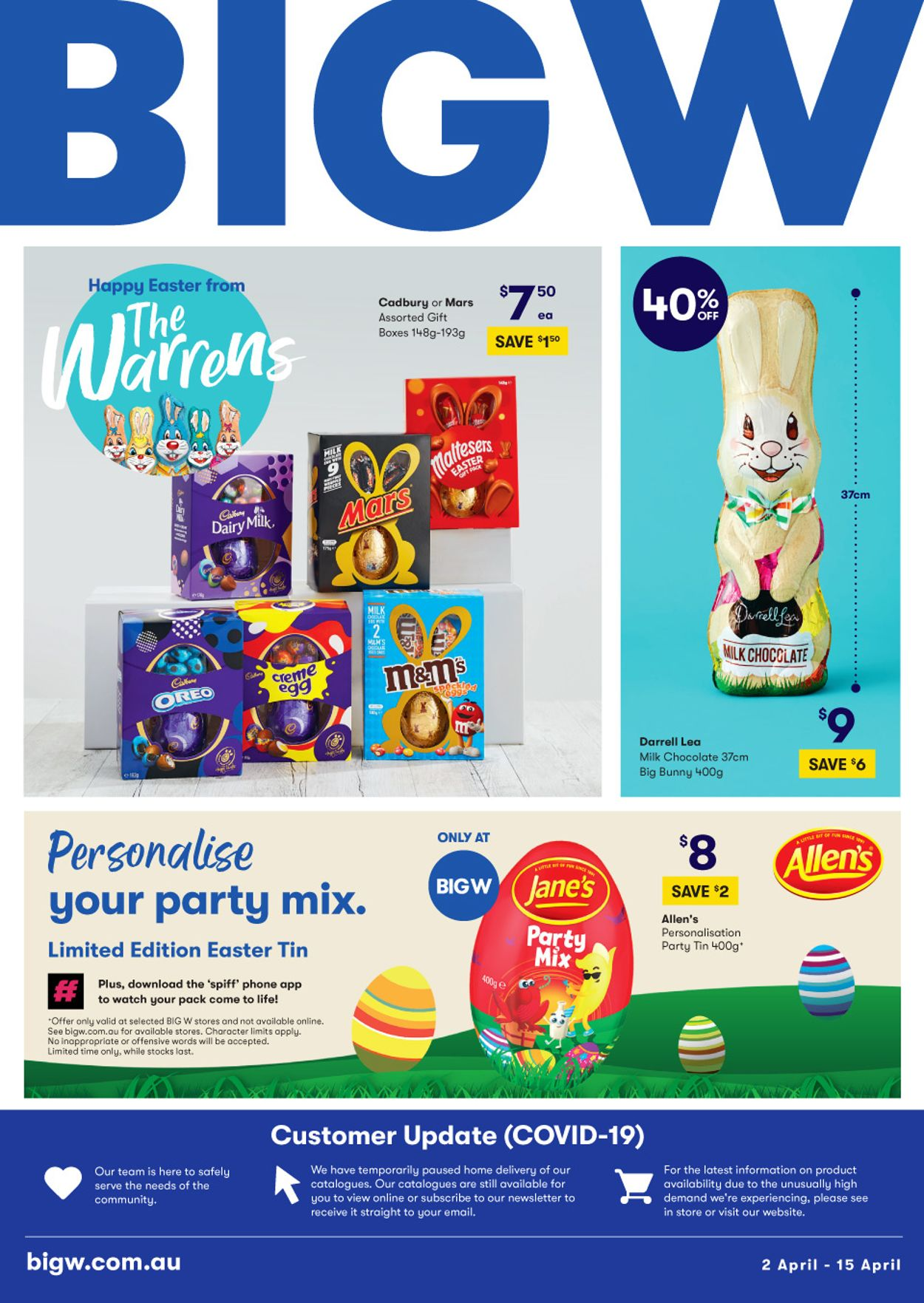 BIG W Catalogue - 02/04-15/04/2020