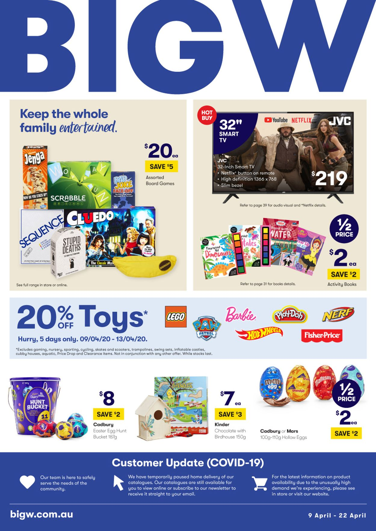 BIG W Catalogue - 09/04-22/04/2020