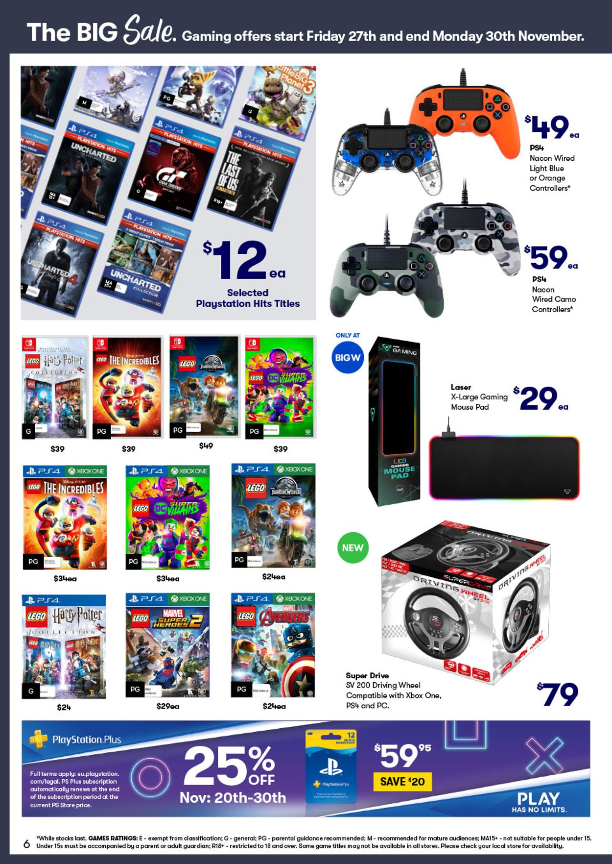 BIG W Black Friday 2020 Catalogue - 25/11-30/11/2020 (Page 6)