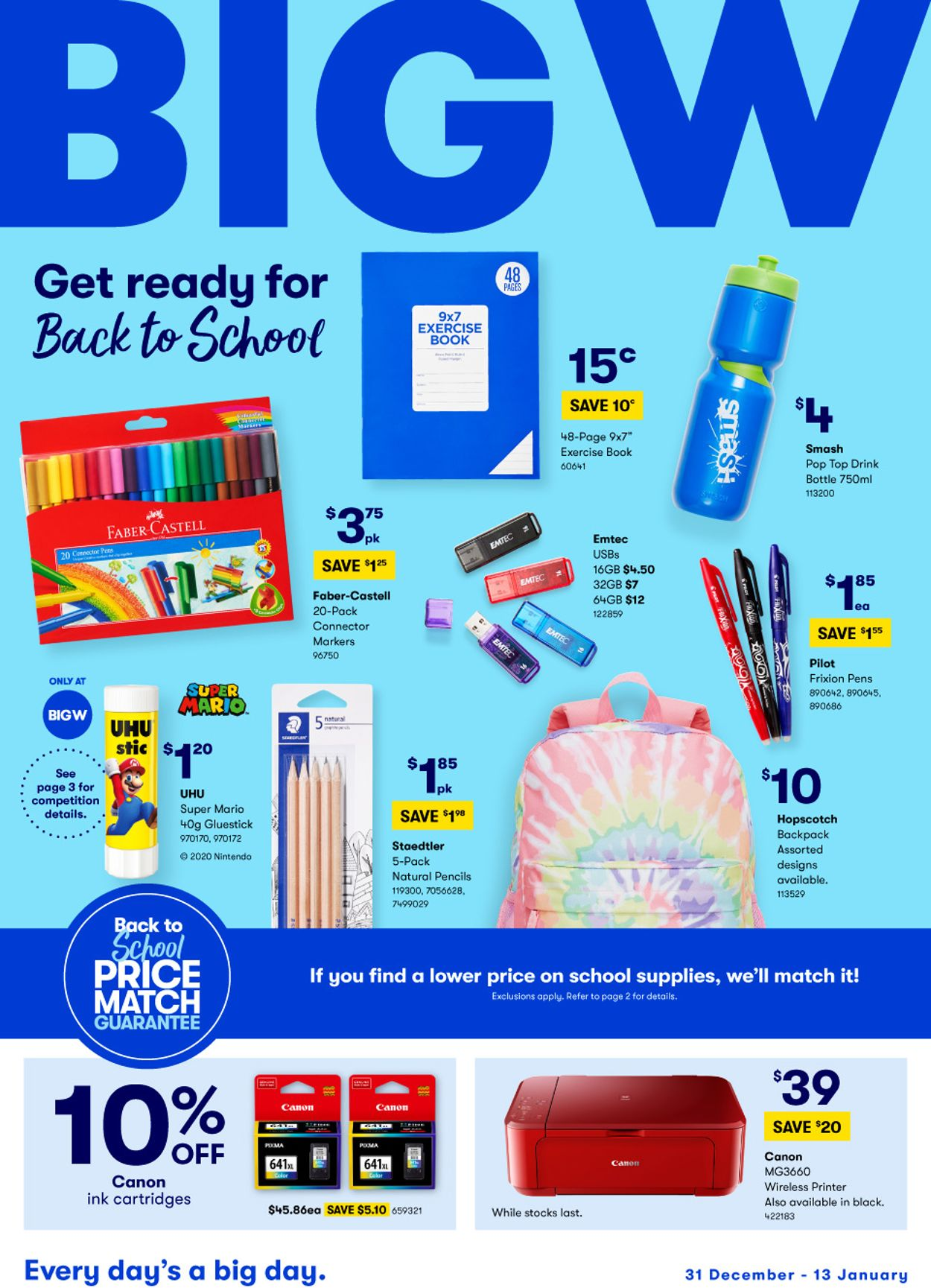 BIG W - Back to School Catalogue - 31/12-13/01/2021