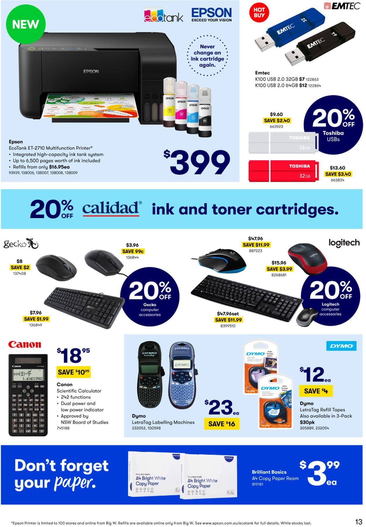BIG W Catalogue - 14/01-27/01/2021 (Page 13)
