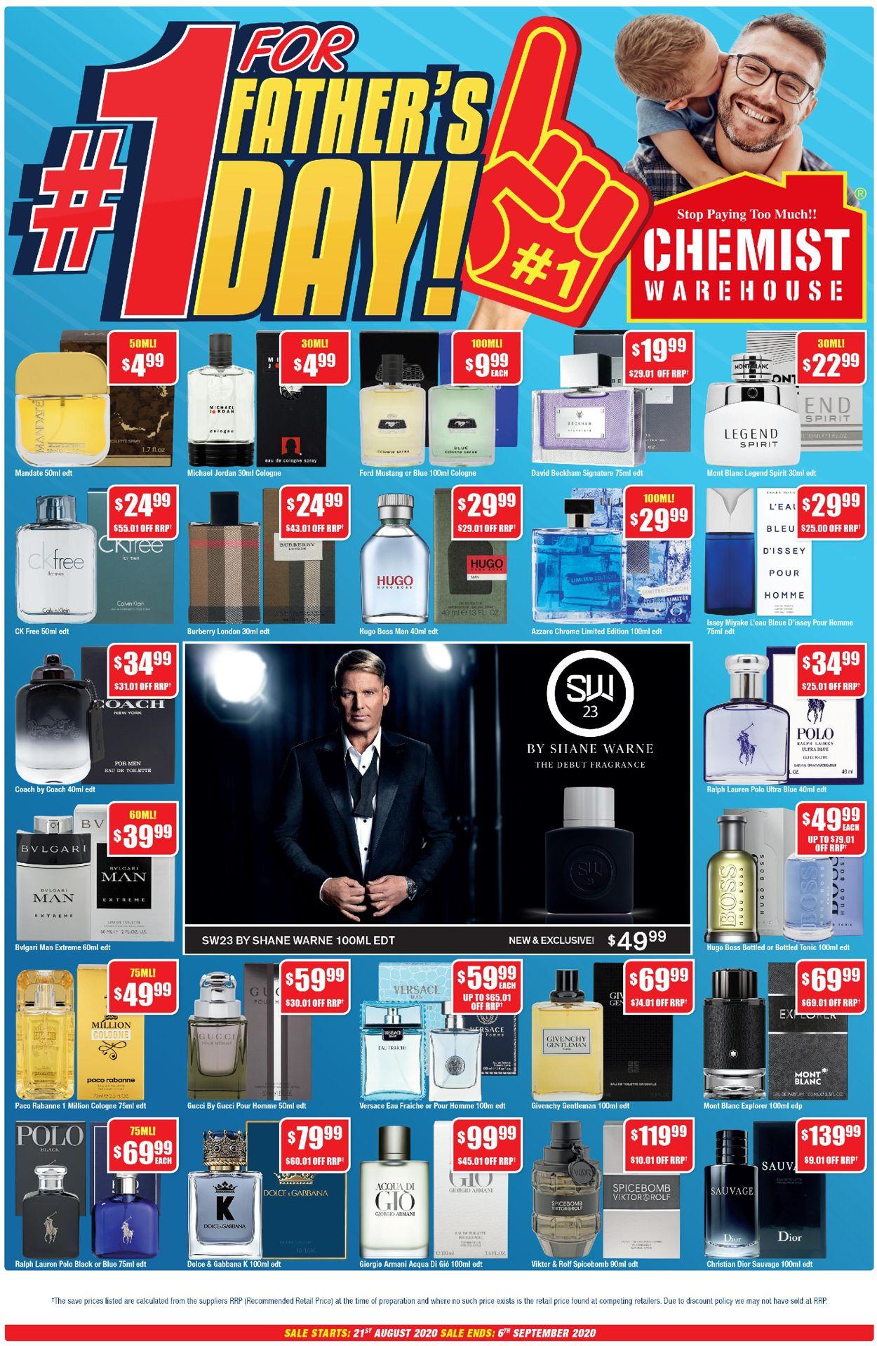 Chemist Warehouse Catalogue - 21/08-06/09/2020