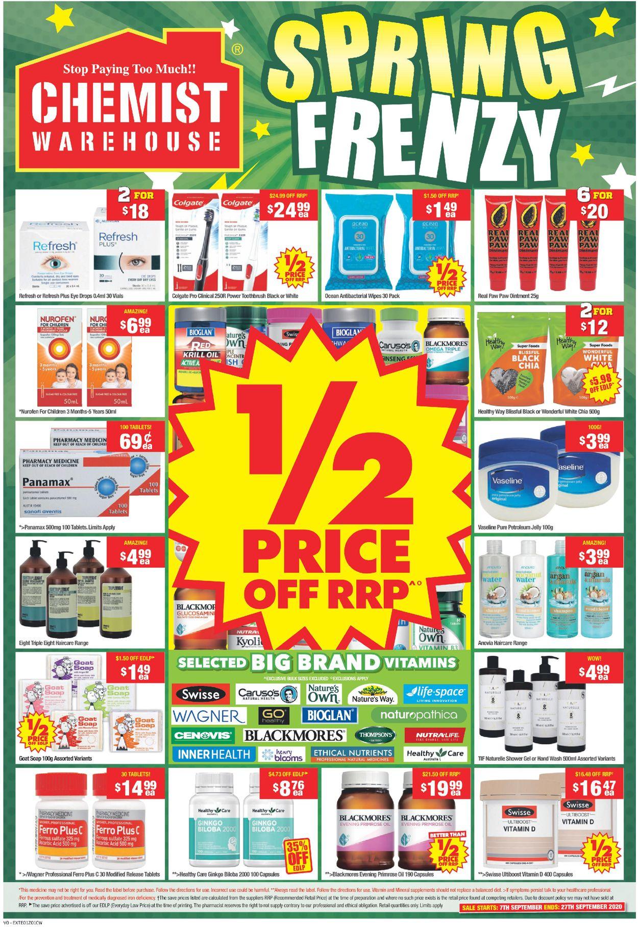 Chemist Warehouse Catalogue - 07/09-27/09/2020 (Page 3)