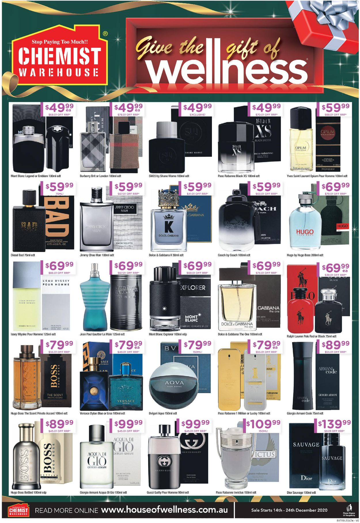 Chemist Warehouse - Christmas 2020 Catalogue - 14/12-24/12/2020 (Page 32)