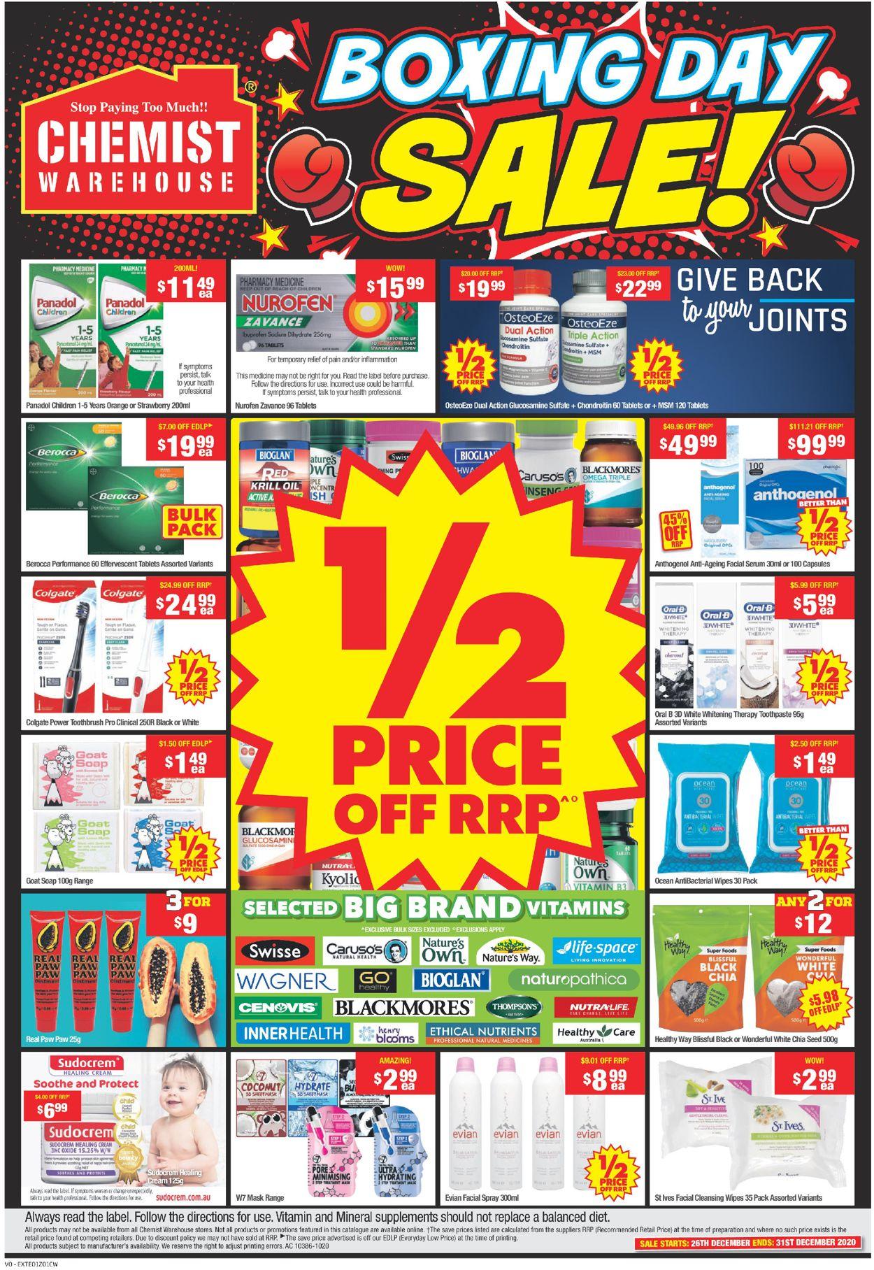Chemist Warehouse - Boxing Day 2020 Catalogue - 26/12-31/12/2020