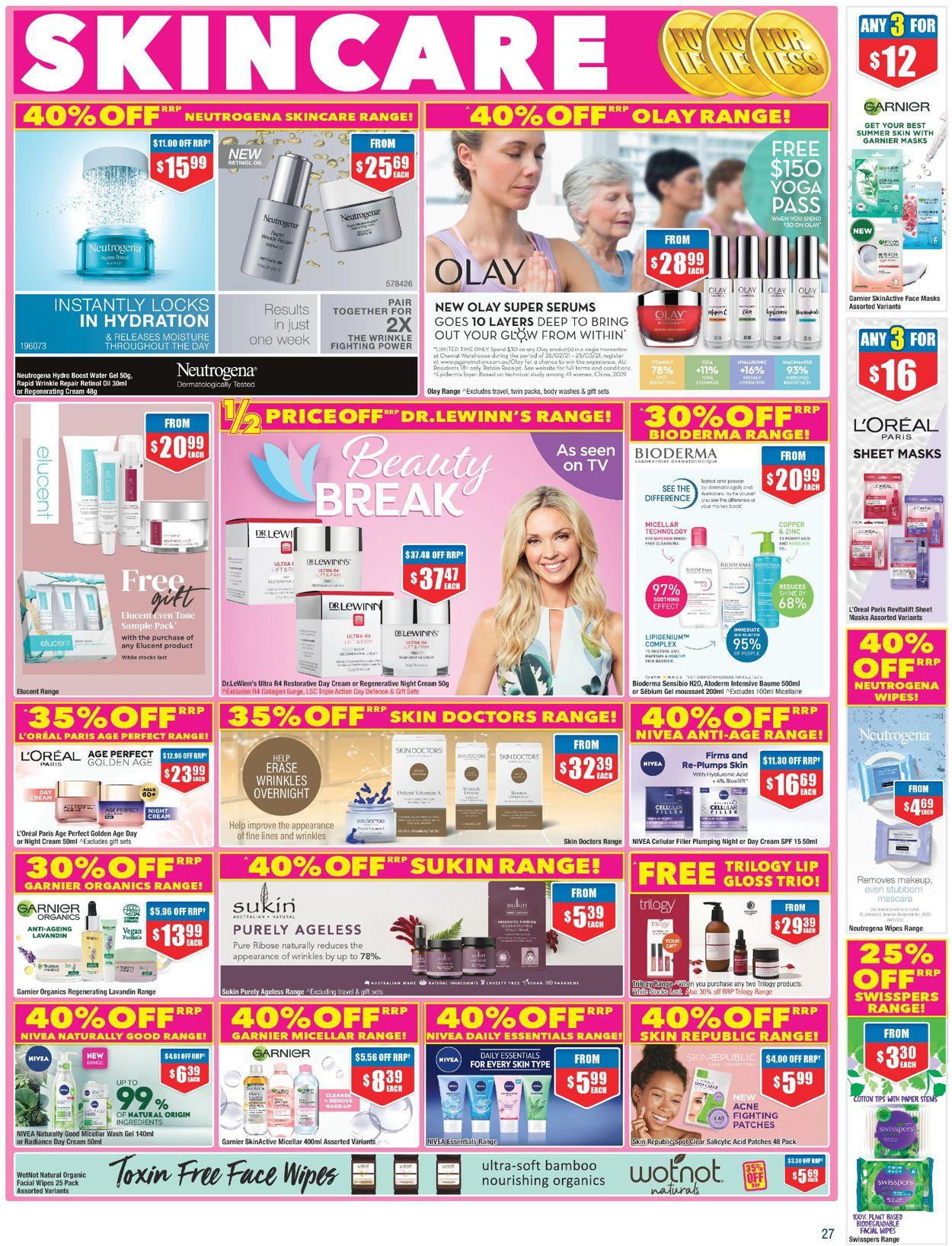 Chemist Warehouse Catalogue - 25/02-10/03/2021 (Page 27)