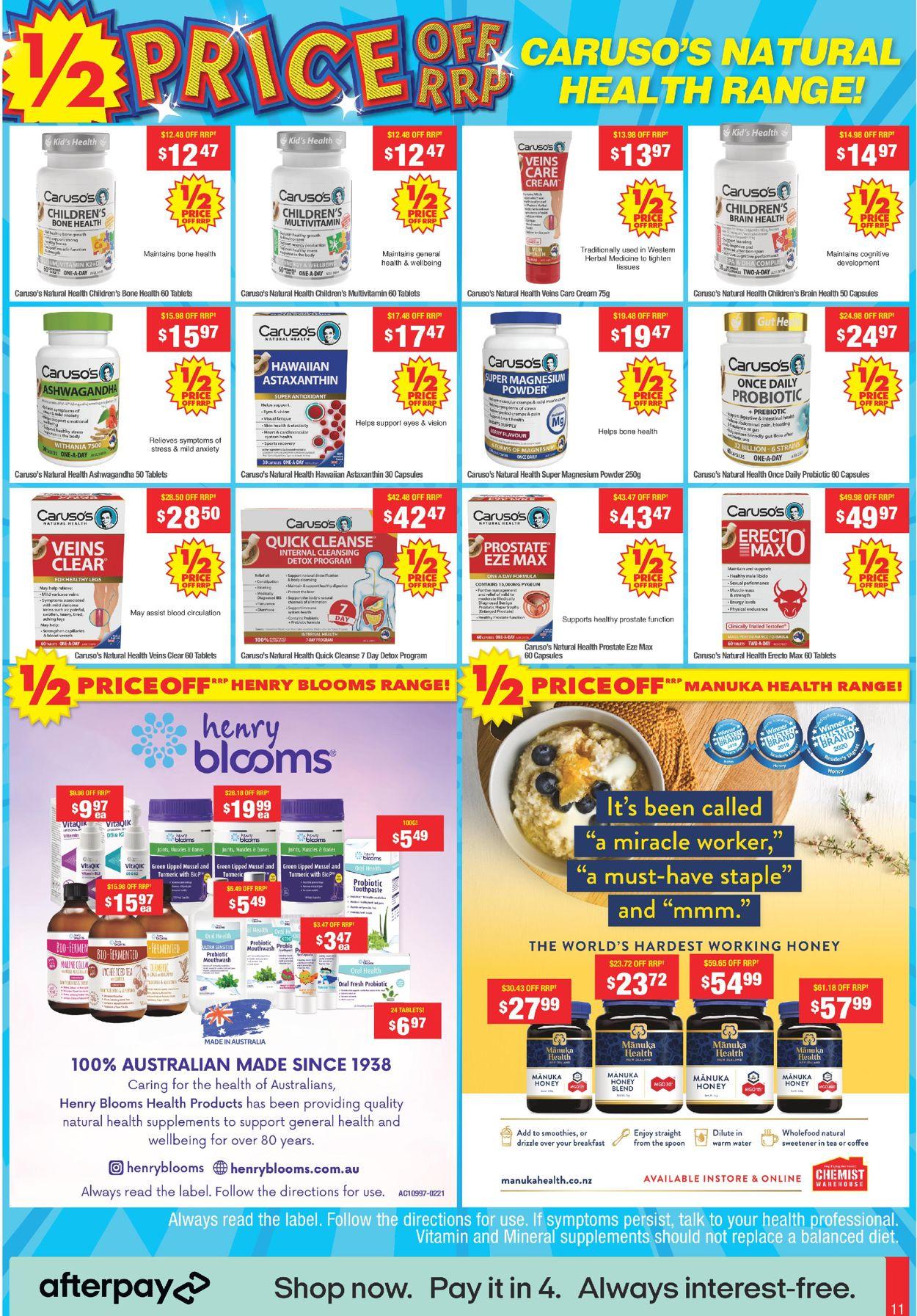 Chemist Warehouse Catalogue - 10/05-23/05/2021 (Page 11)