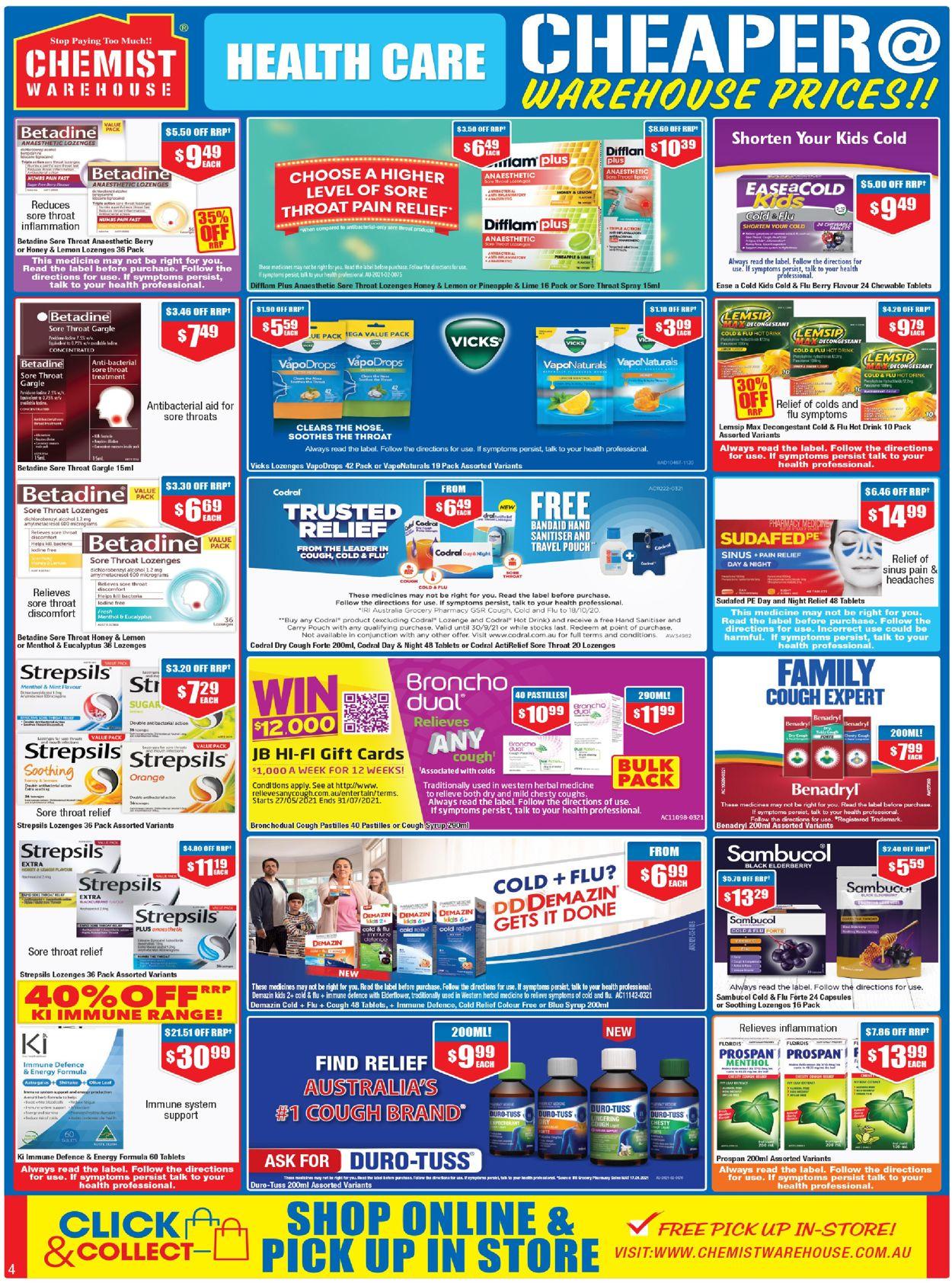 Chemist Warehouse Catalogue - 27/05-09/06/2021 (Page 4)