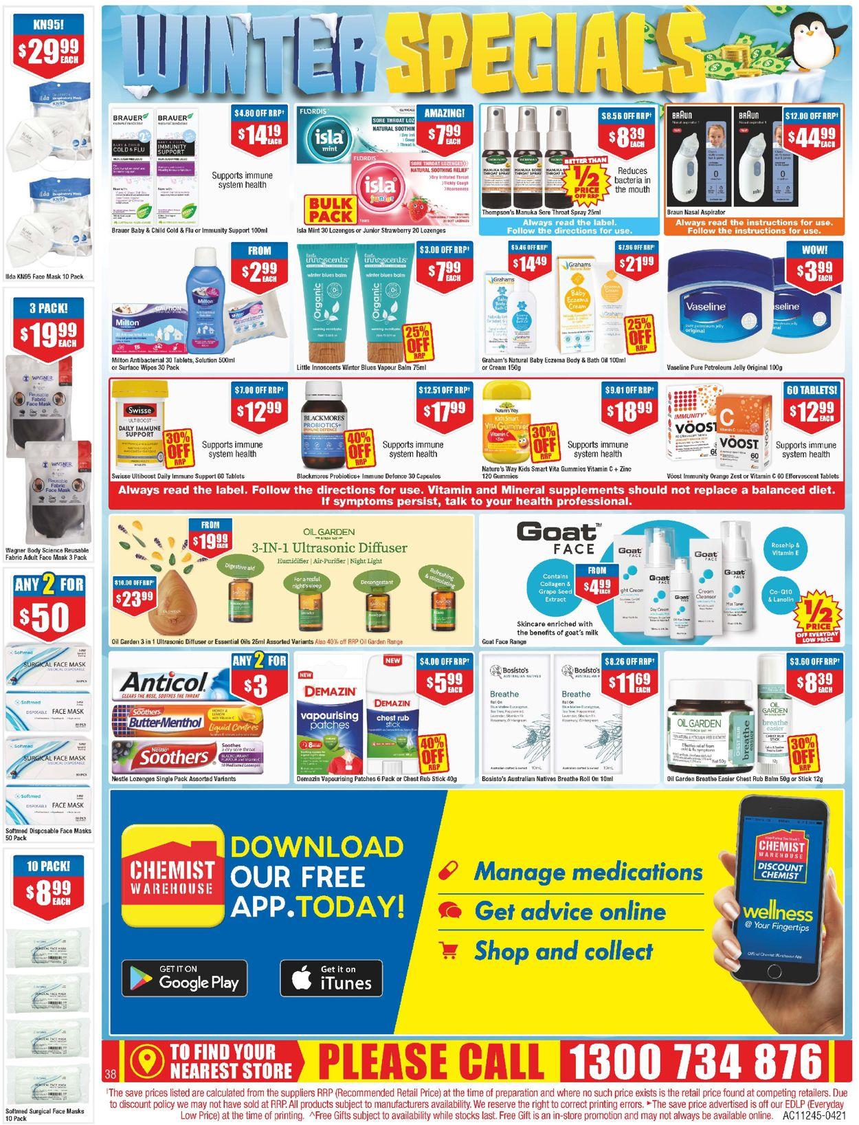 Chemist Warehouse Catalogue - 27/05-09/06/2021 (Page 38)