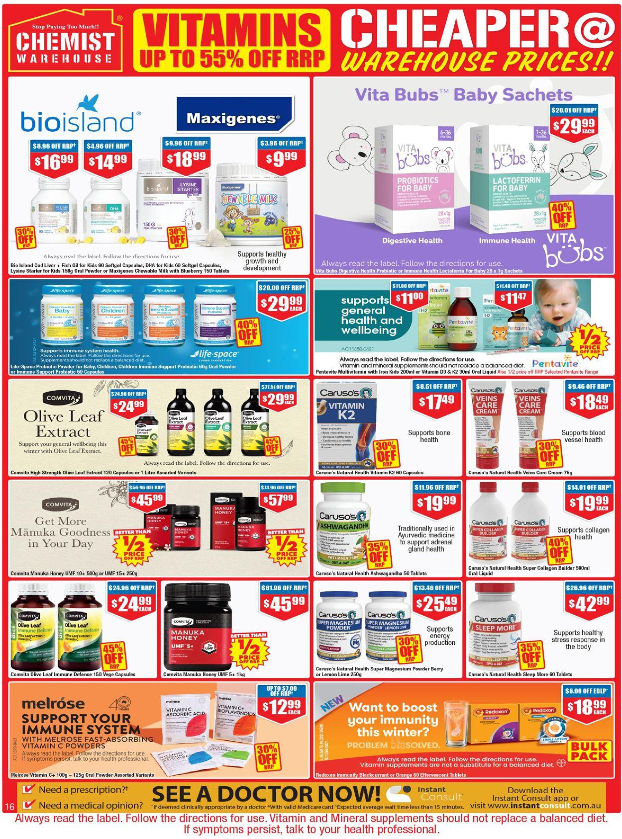 Chemist Warehouse Catalogue - 24/06-07/07/2021 (Page 16)