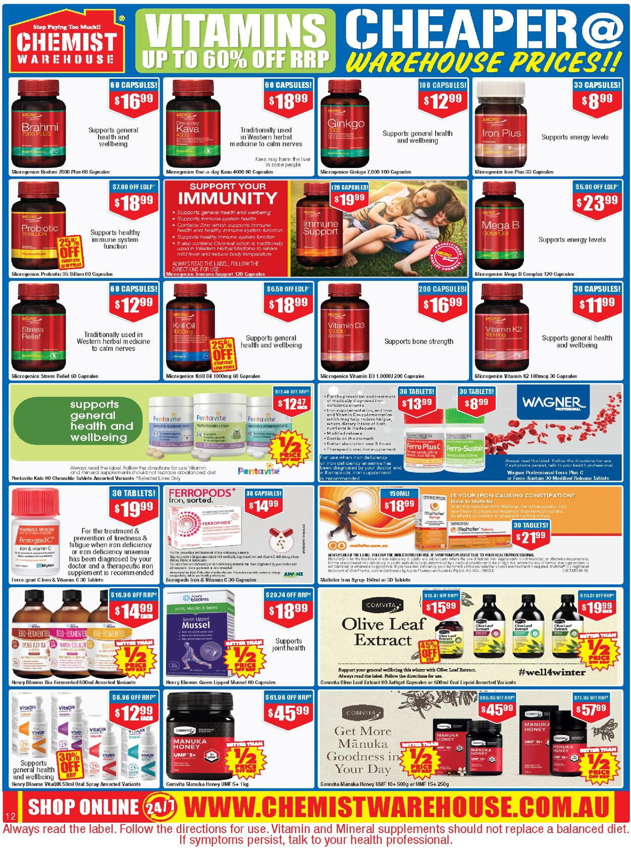 Chemist Warehouse Catalogue - 22/07-04/08/2021 (Page 12)