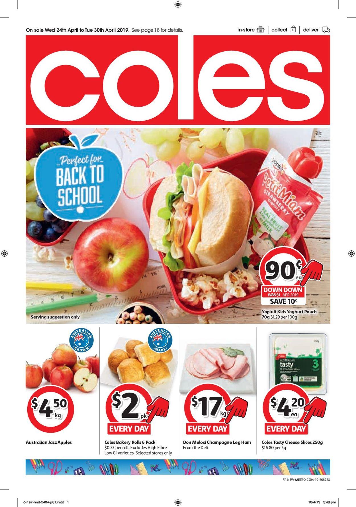 Coles Catalogue - 24/04-30/04/2019