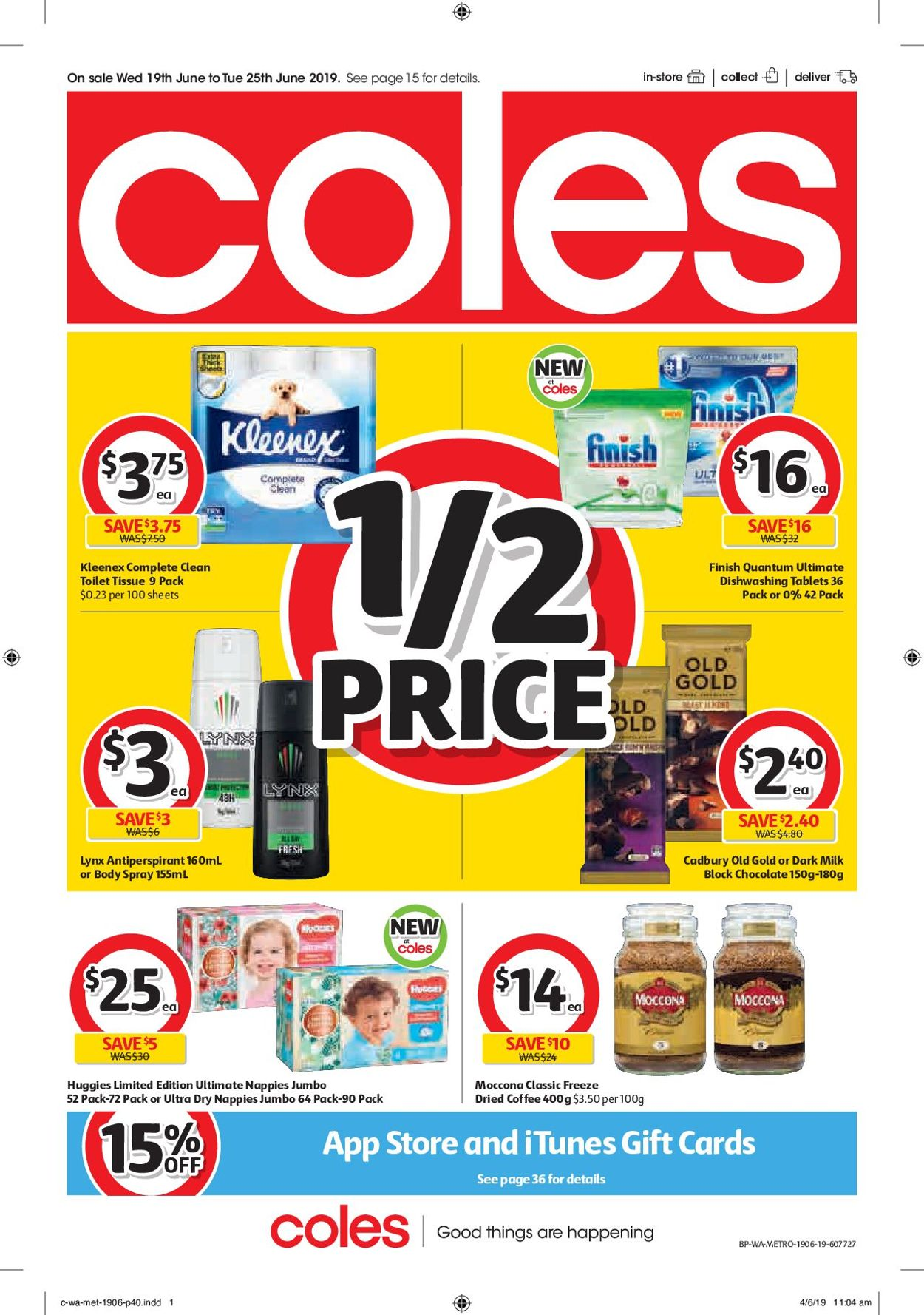 Coles Catalogue - 19/06-25/06/2019 (Page 40)