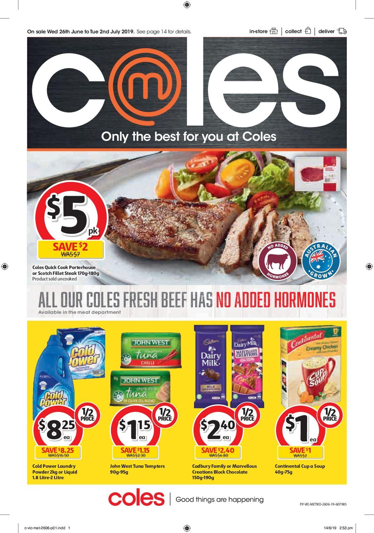 Coles Catalogue - 26/06-02/07/2019