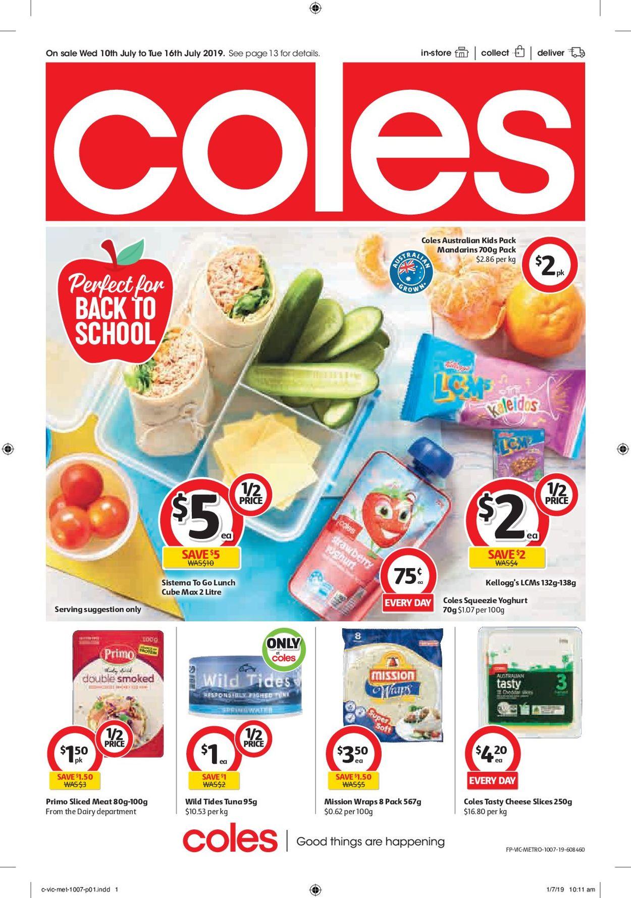 Coles Catalogue - 10/07-16/07/2019