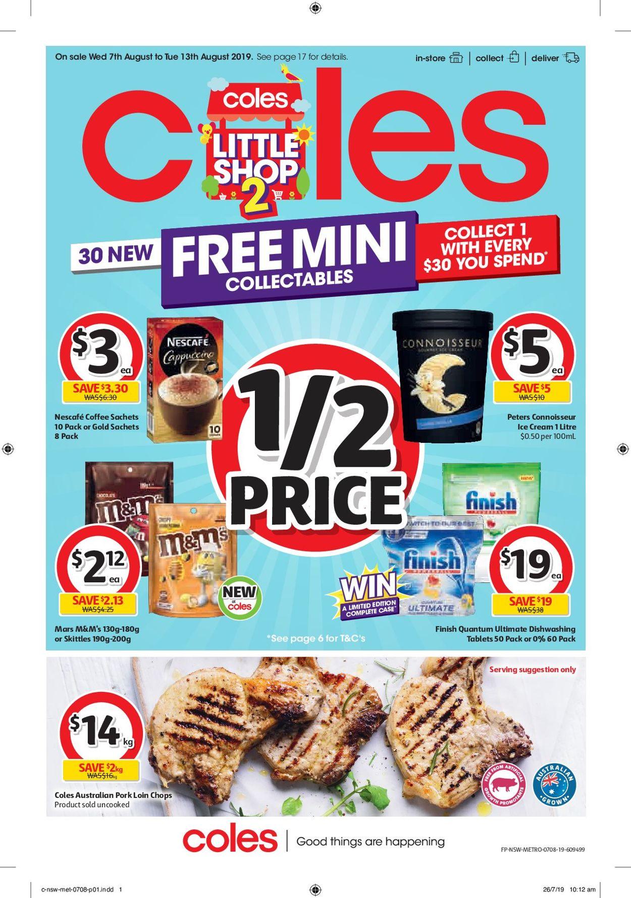 Coles Catalogue - 07/08-13/08/2019