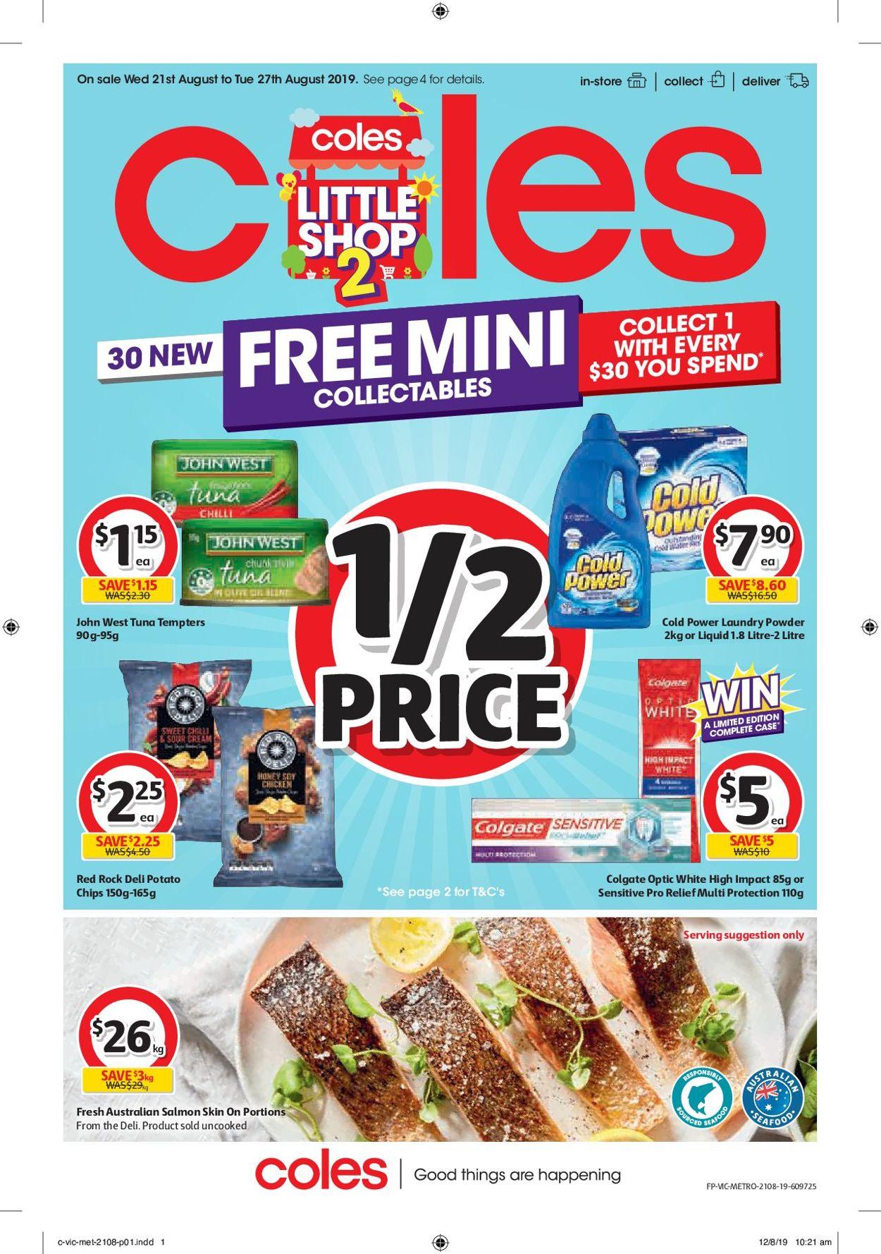 Coles Catalogue - 21/08-27/08/2019