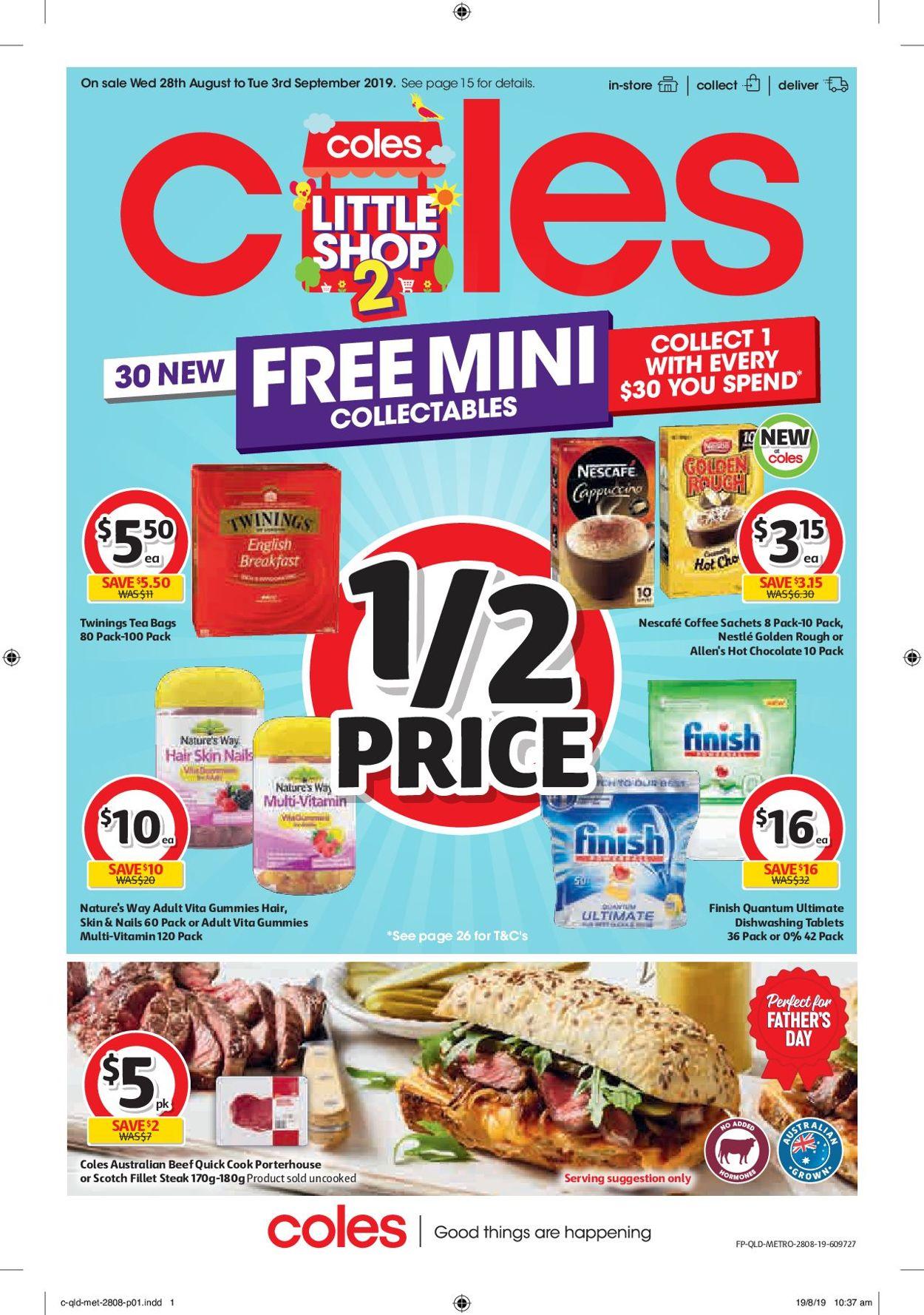 Coles Catalogue - 28/08-03/09/2019
