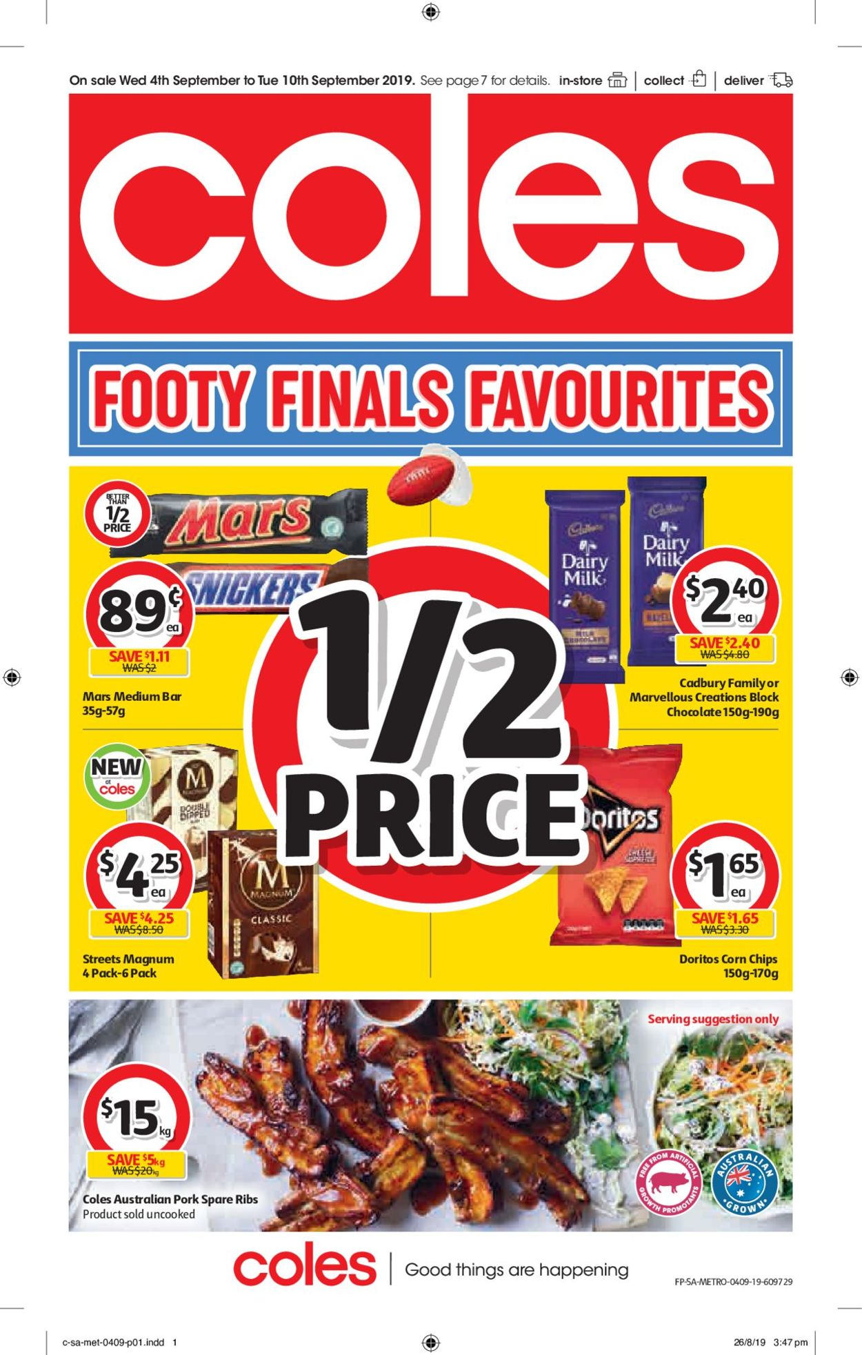 Coles Catalogue - 04/09-10/09/2019