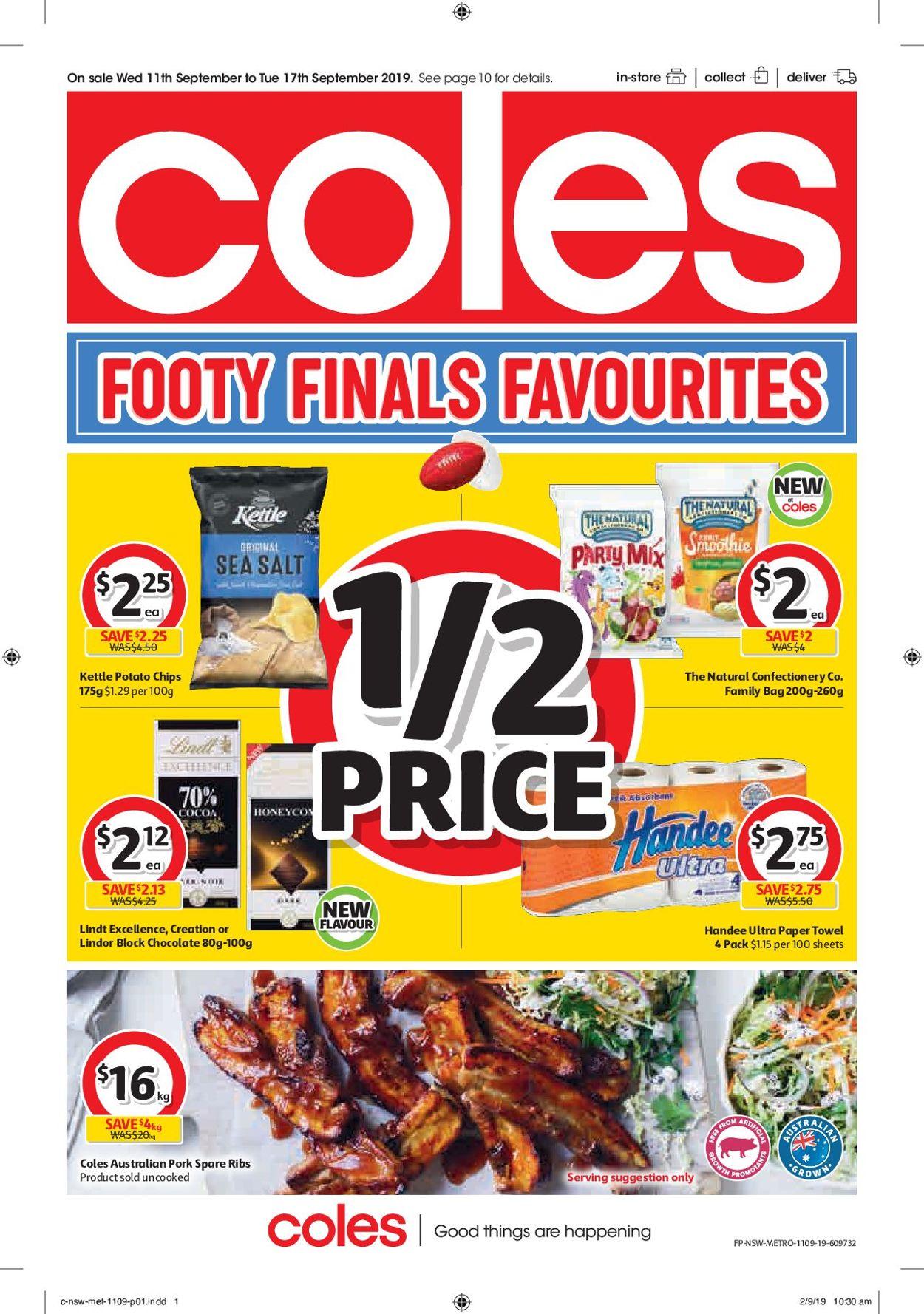 Coles Catalogue - 11/09-17/09/2019