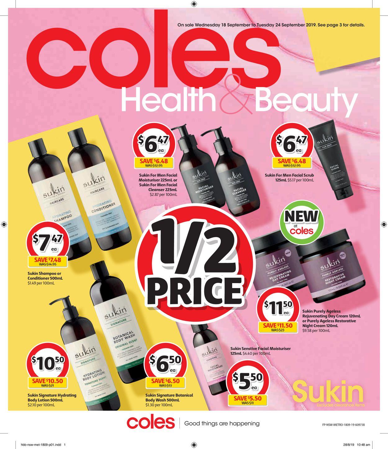 Coles Catalogue - 18/09-24/09/2019