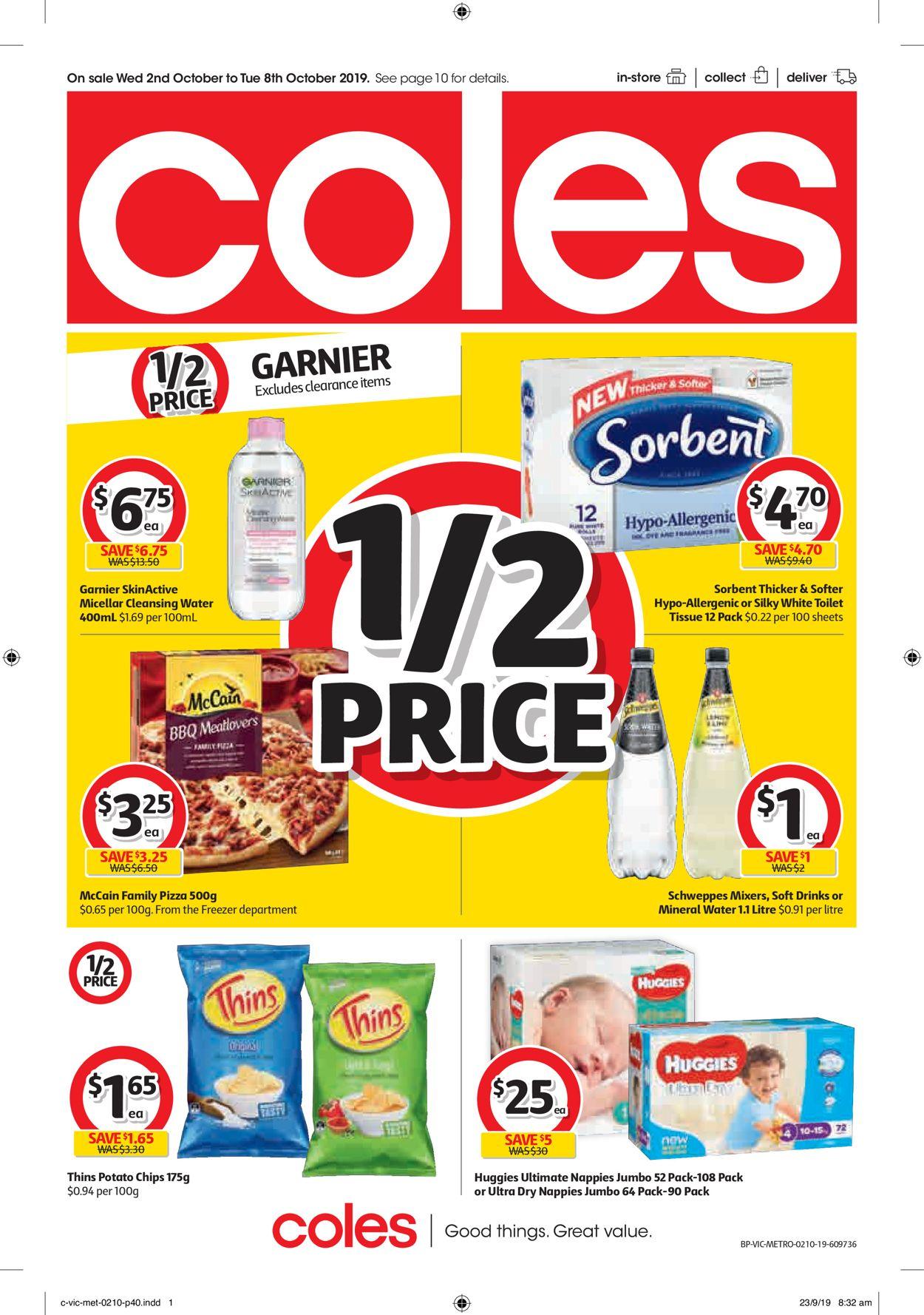 Coles Catalogue - 02/10-08/10/2019 (Page 40)