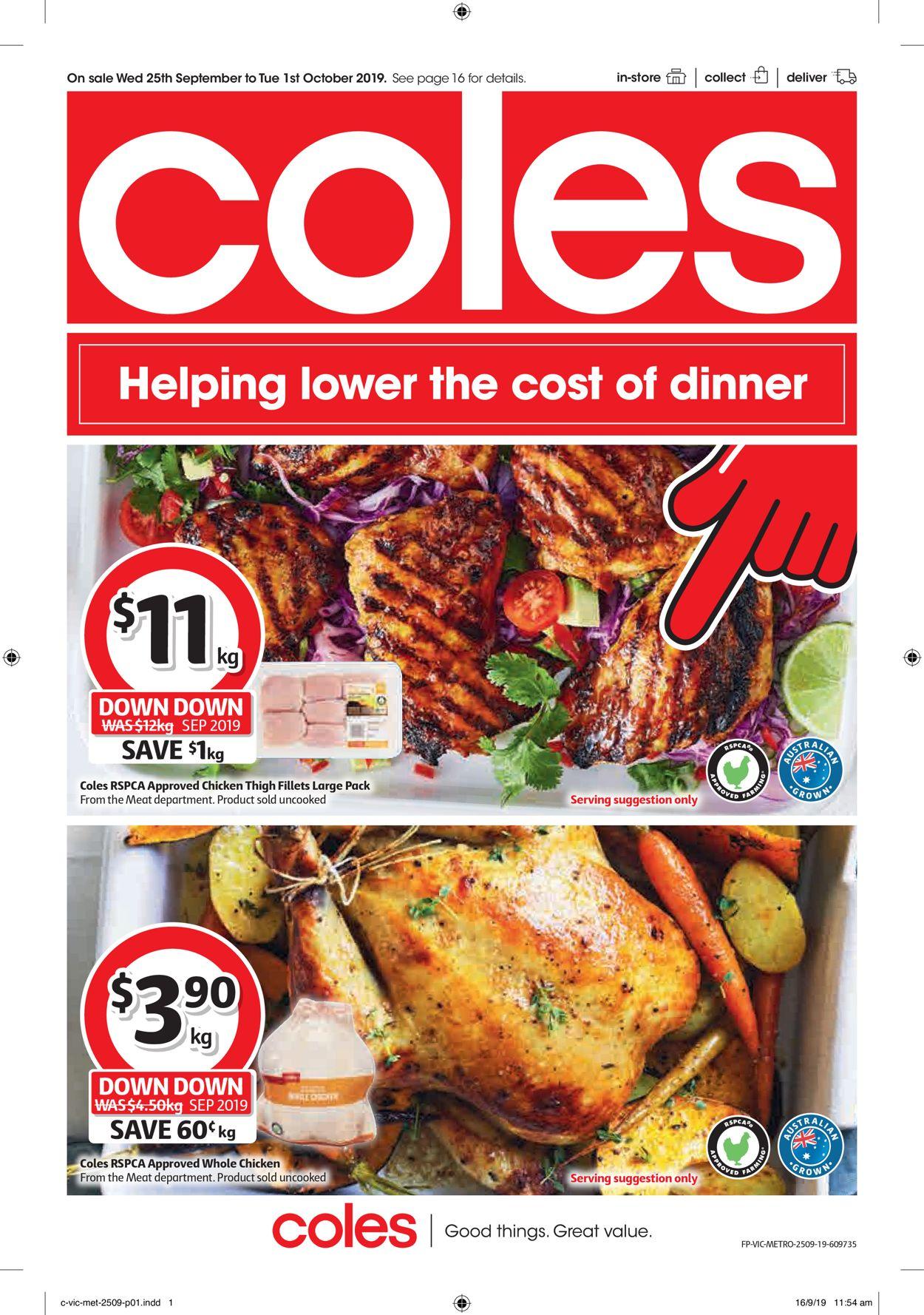 Coles Catalogue - 25/09-01/10/2019