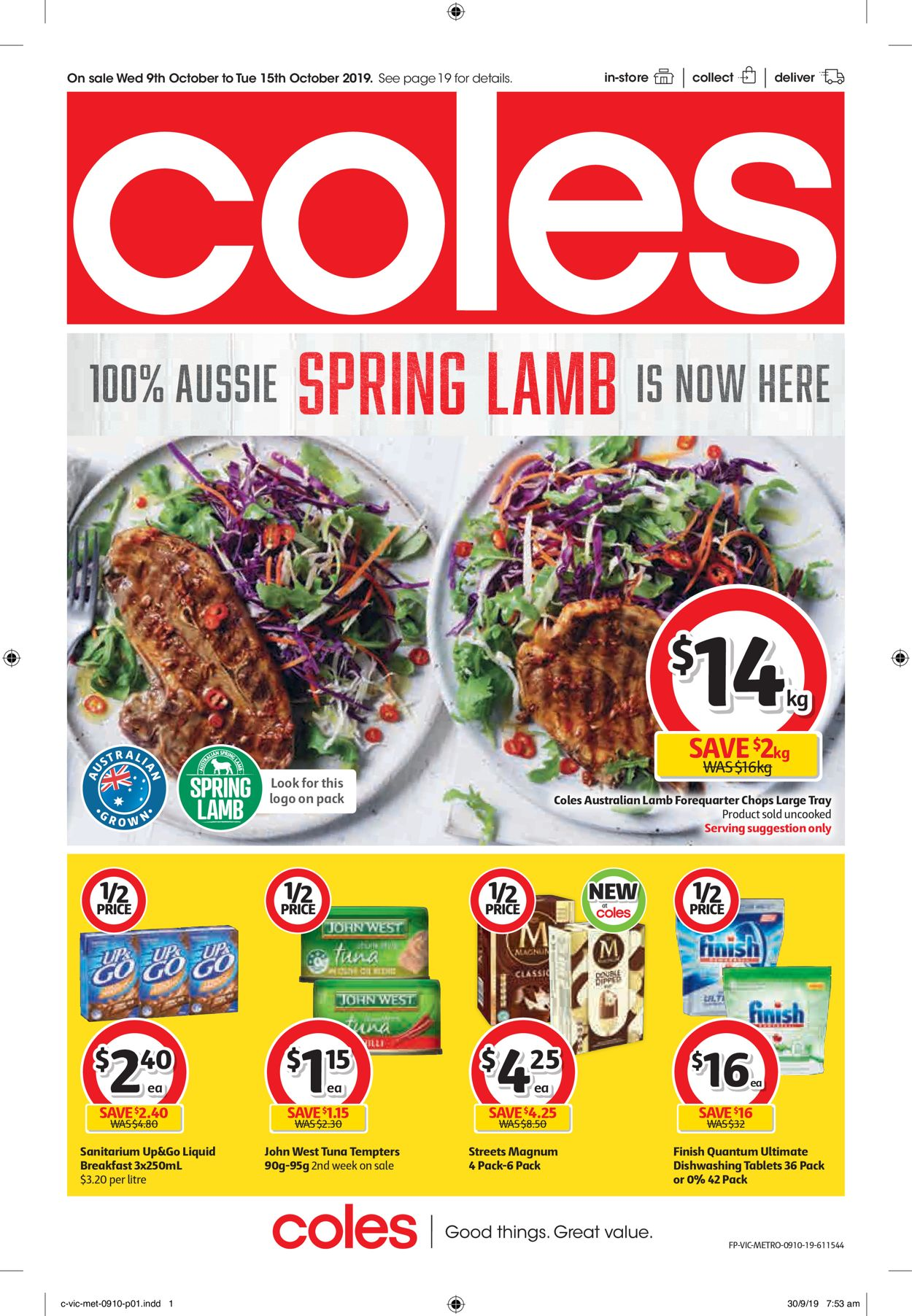 Coles Catalogue - 09/10-15/10/2019