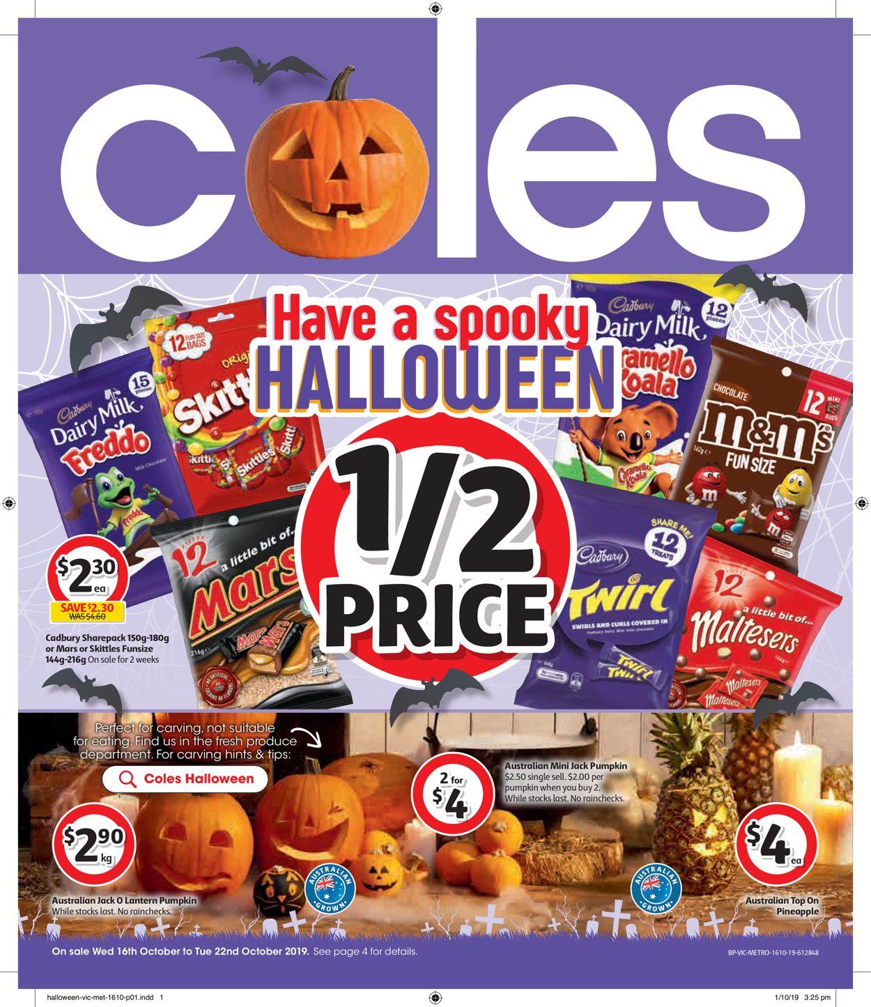 Coles Catalogue - 16/10-22/10/2019