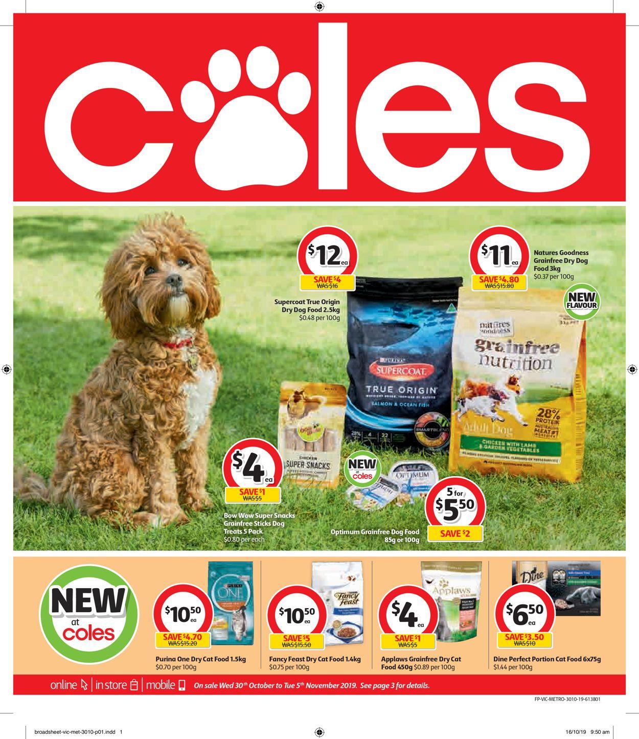 Coles Catalogue - 30/10-05/11/2019