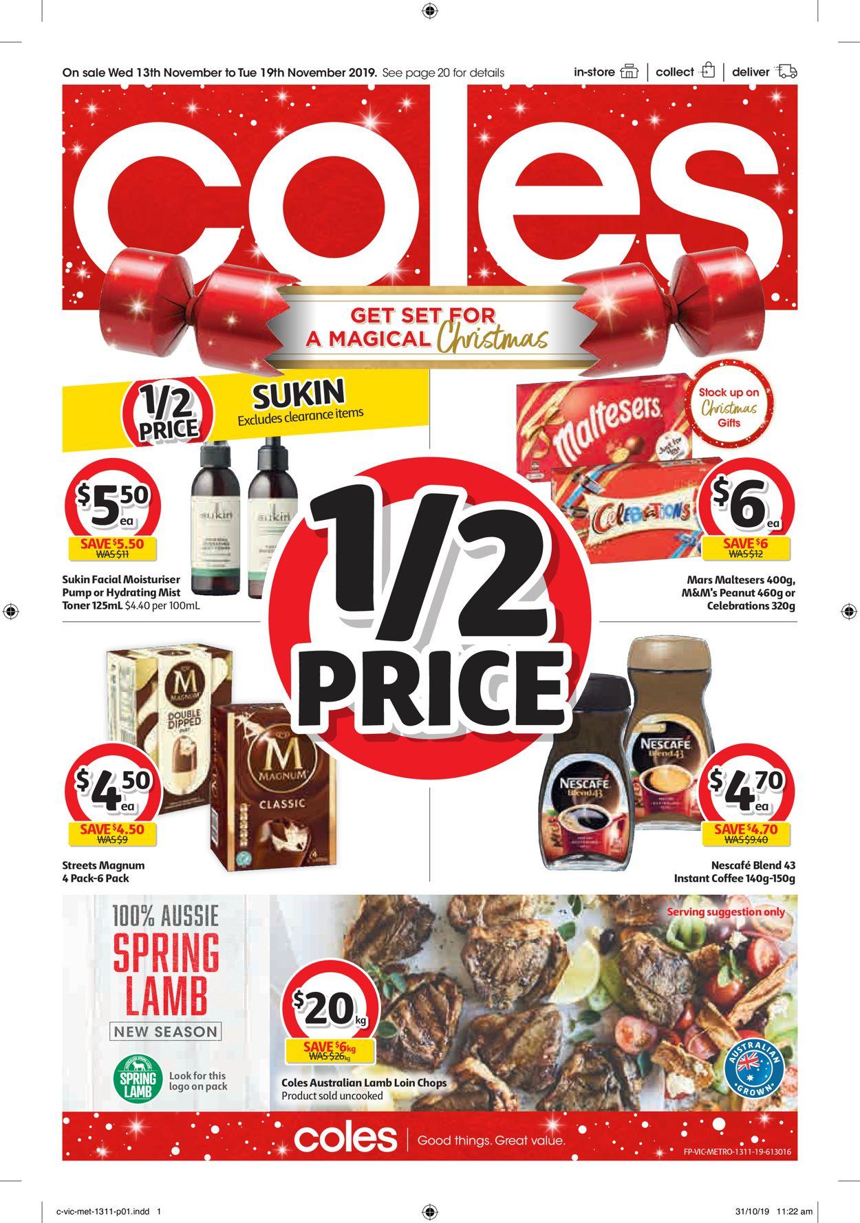 Coles Catalogue - 13/11-19/11/2019