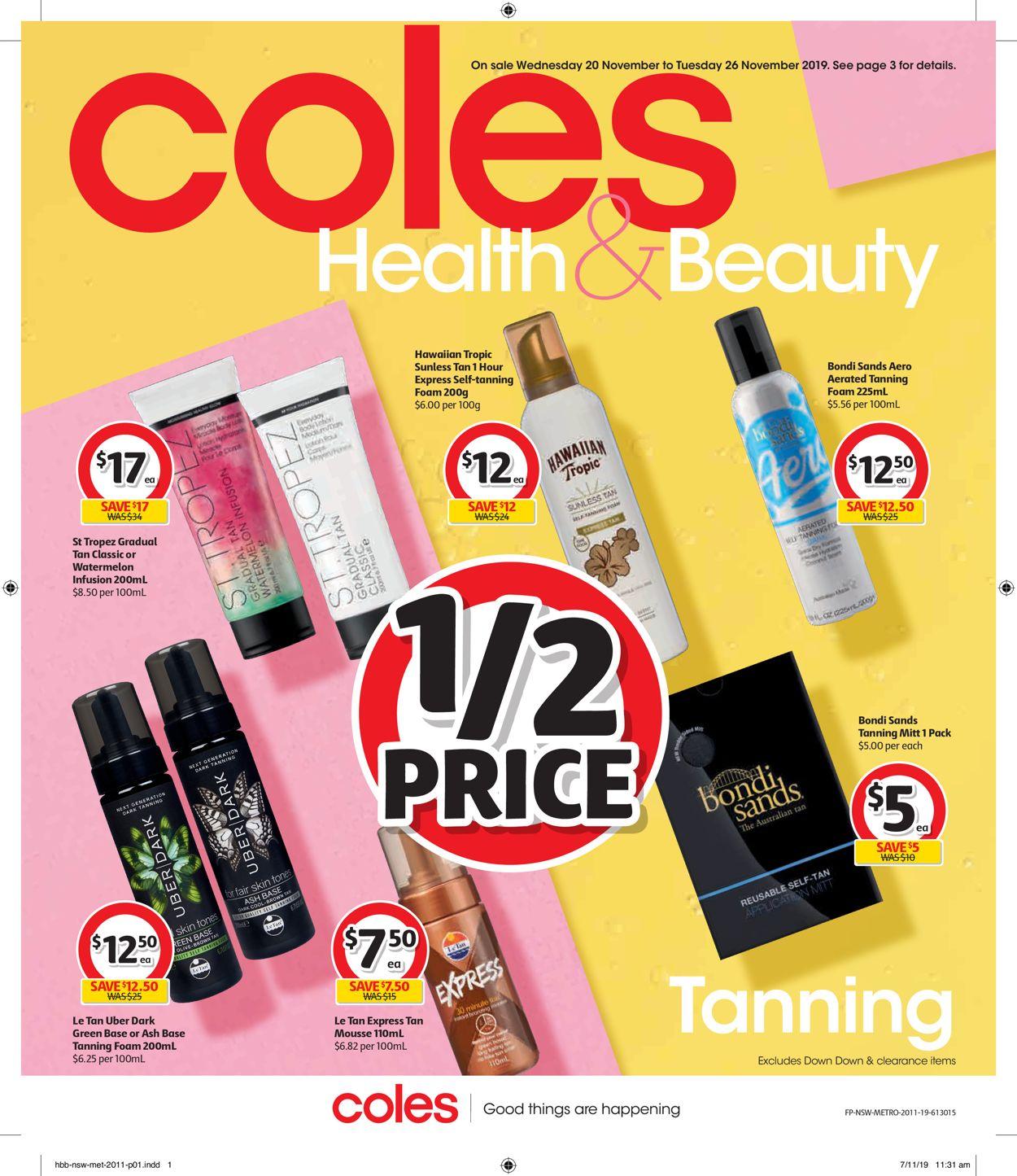 Coles Catalogue - 20/11-26/11/2019