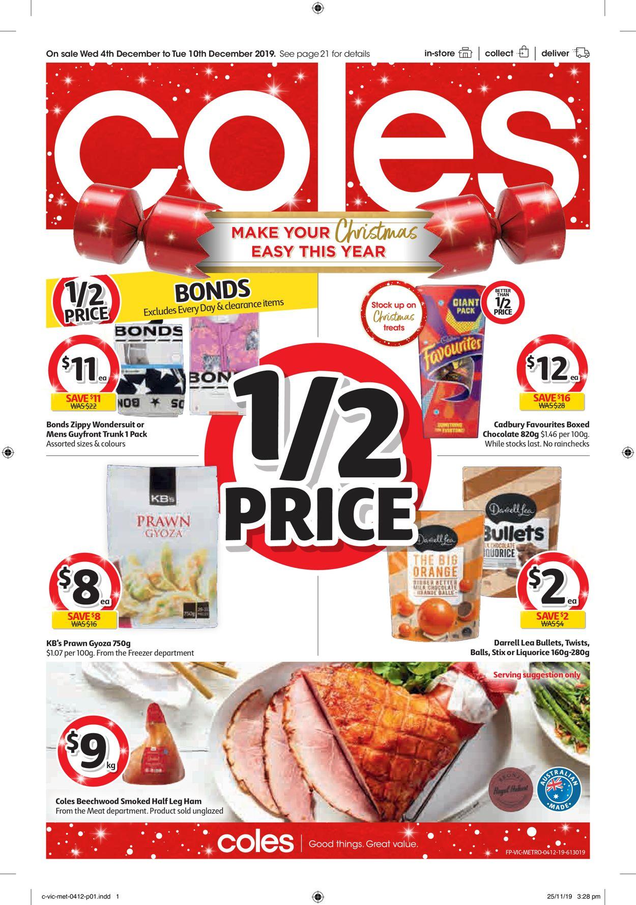 Coles Christmas Catalogue 2019 Catalogue - 04/12-10/12/2019