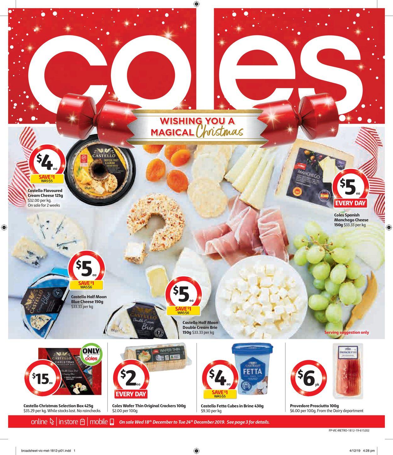 Coles Christmas Catalogue 2019 Catalogue - 18/12-24/12/2019