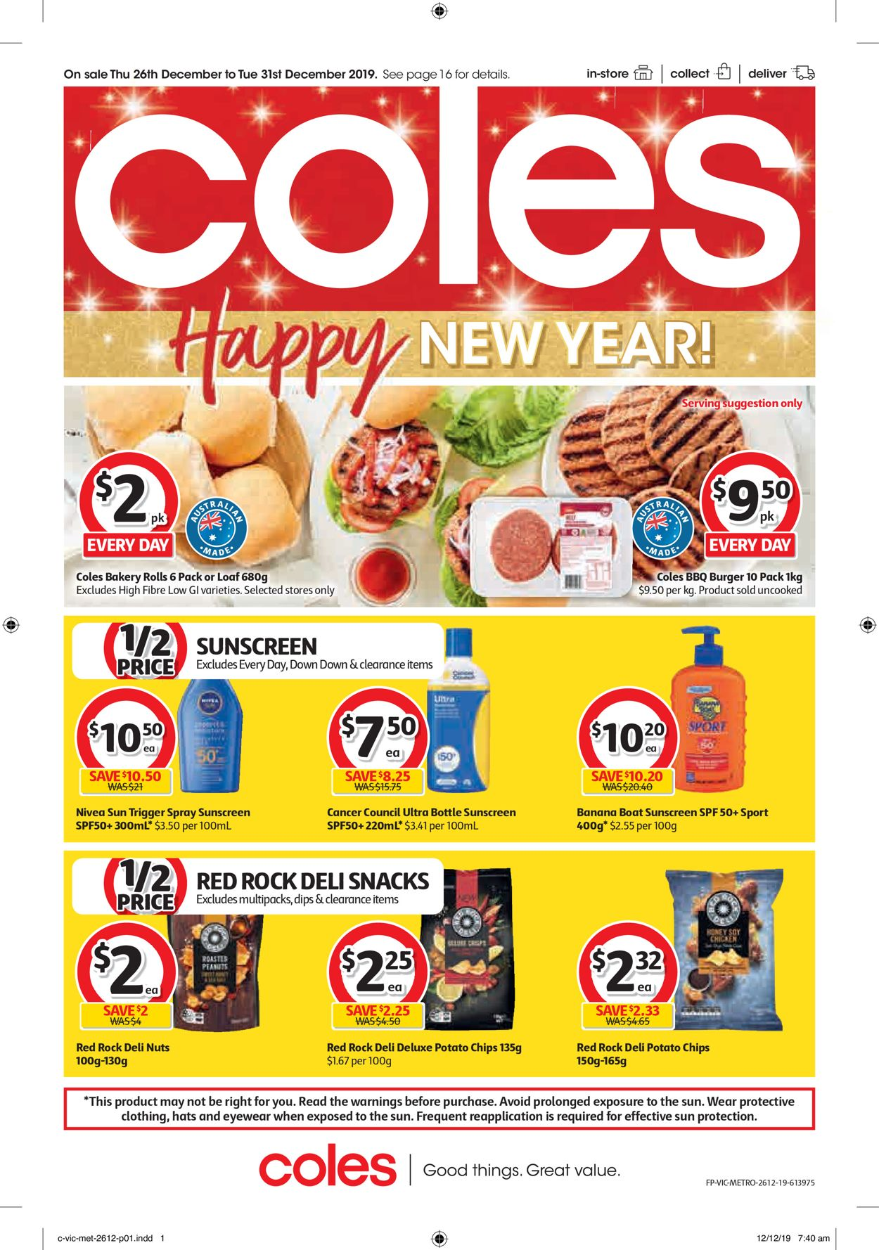 Coles New Year Catalogue Catalogue - 26/12-31/12/2019