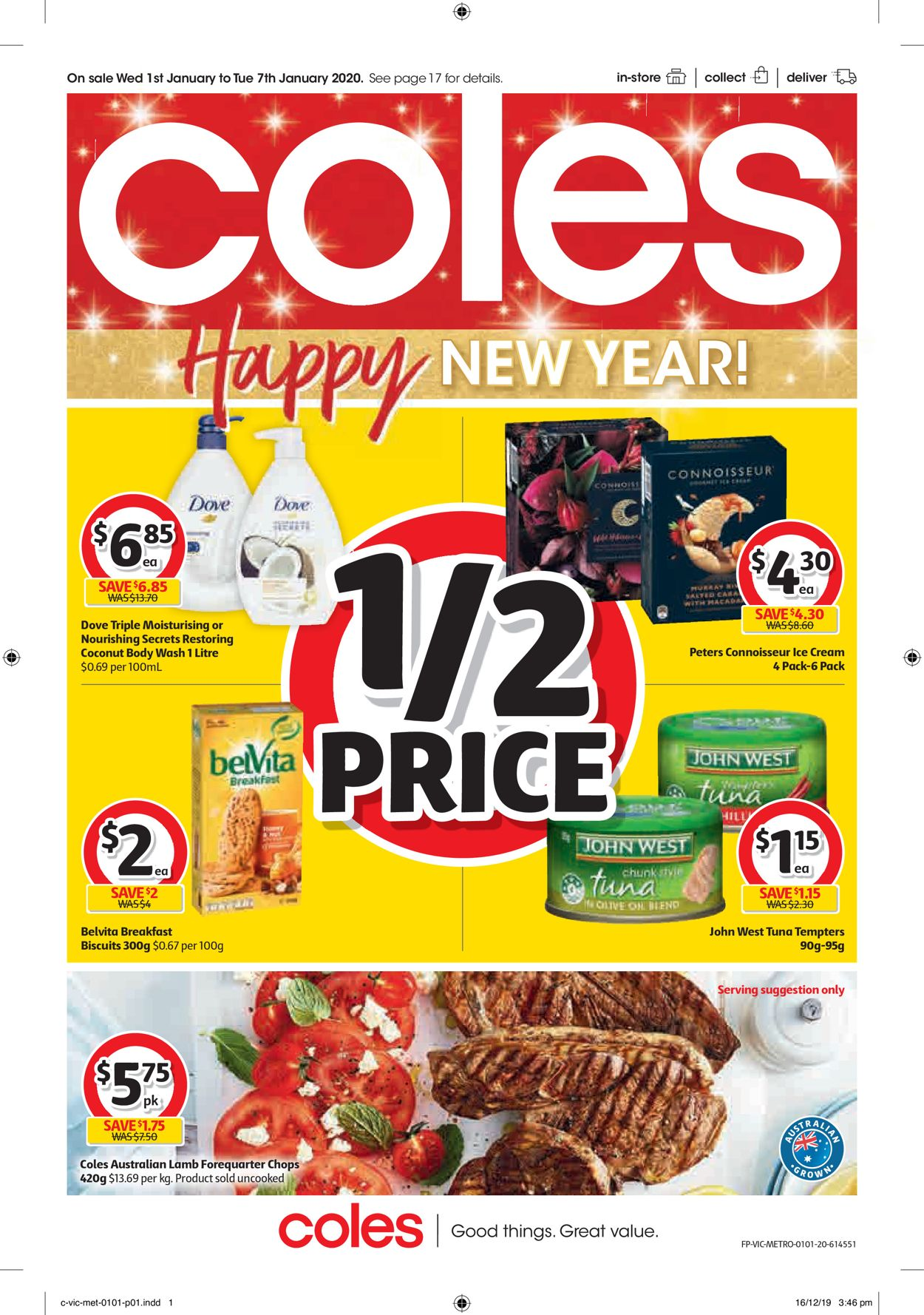 Coles New Year Catalogue 2020 Catalogue - 01/01-07/01/2020