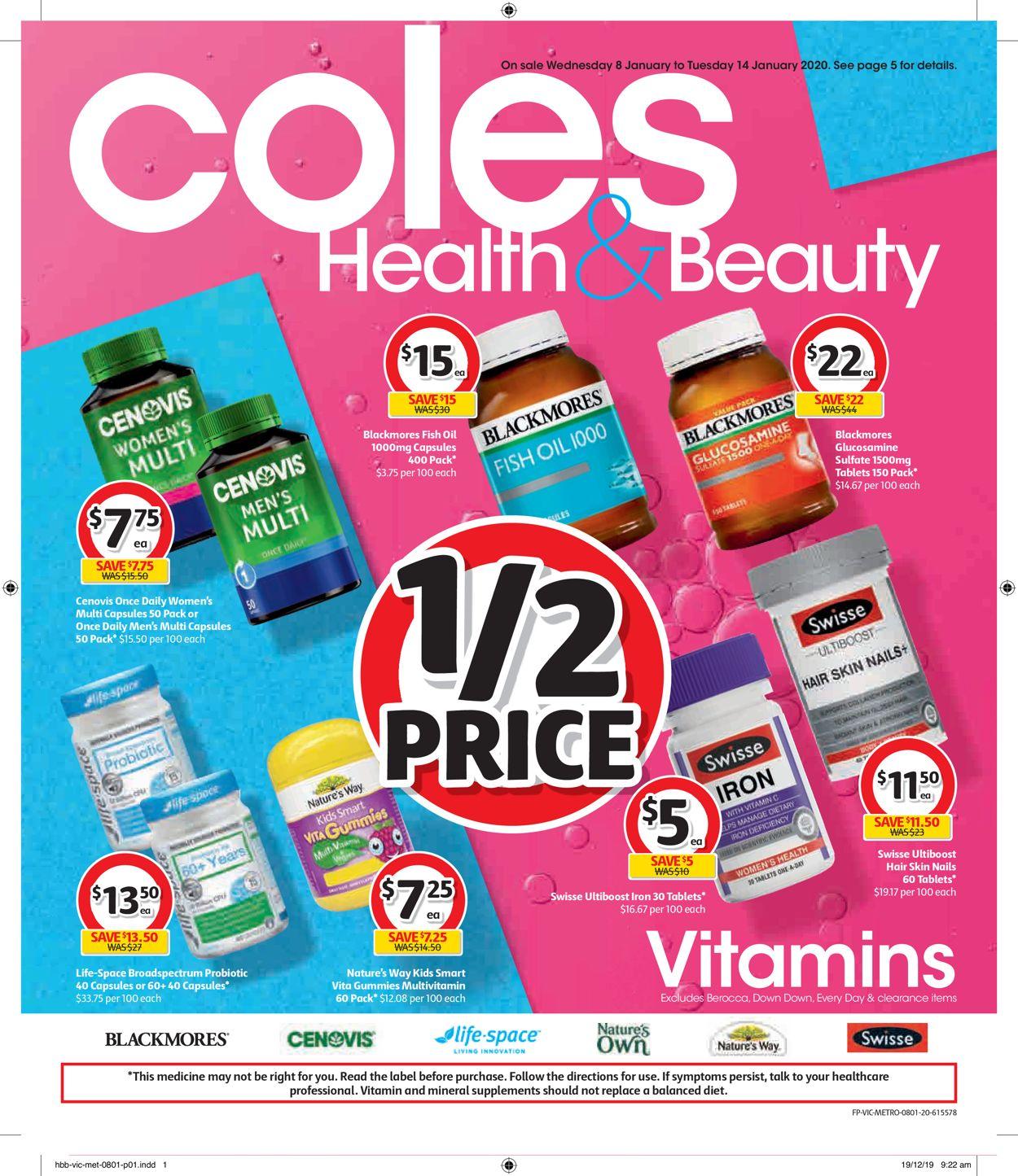 Coles Catalogue - 08/01-14/01/2020