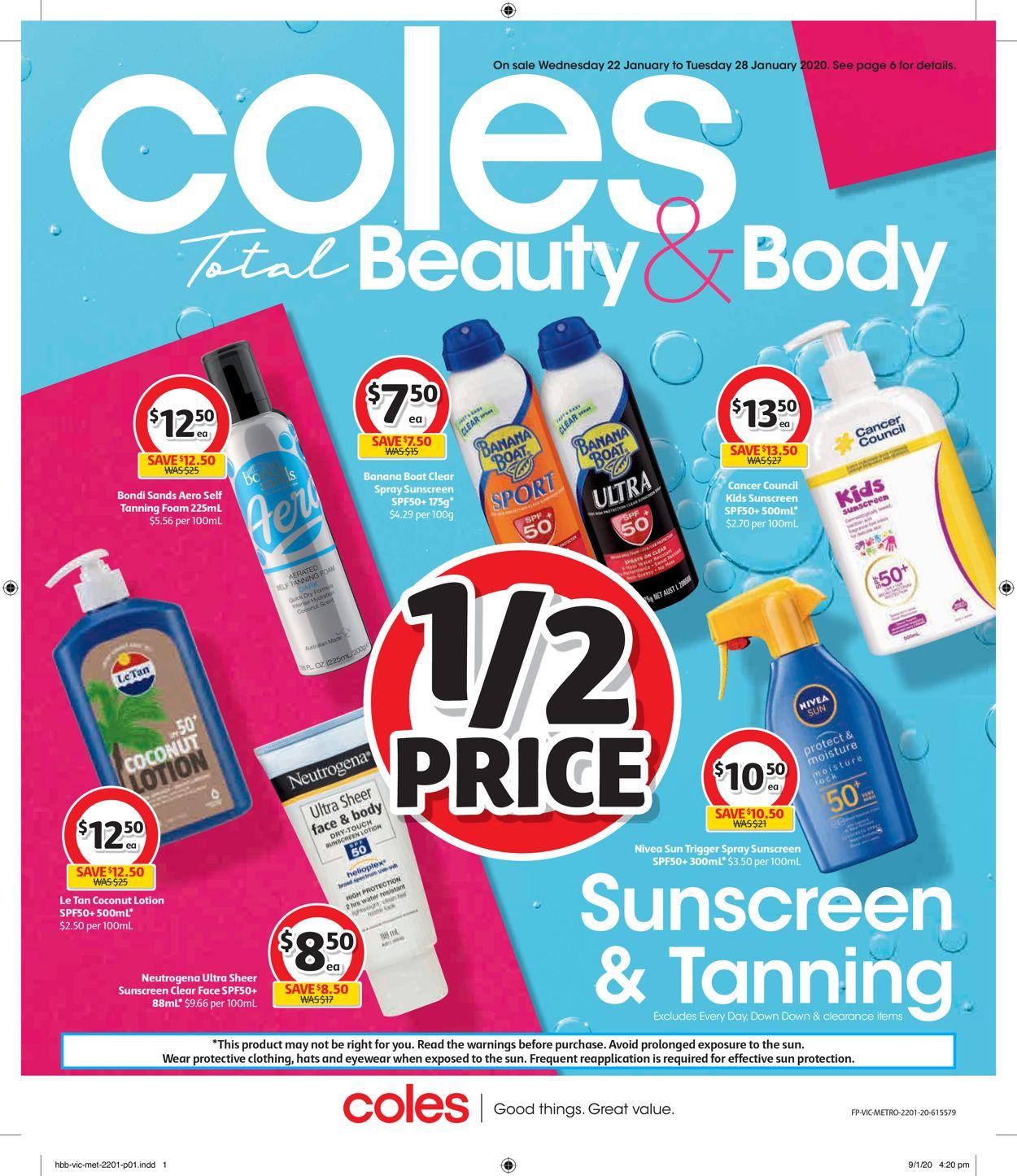Coles Catalogue - 22/01-28/01/2020