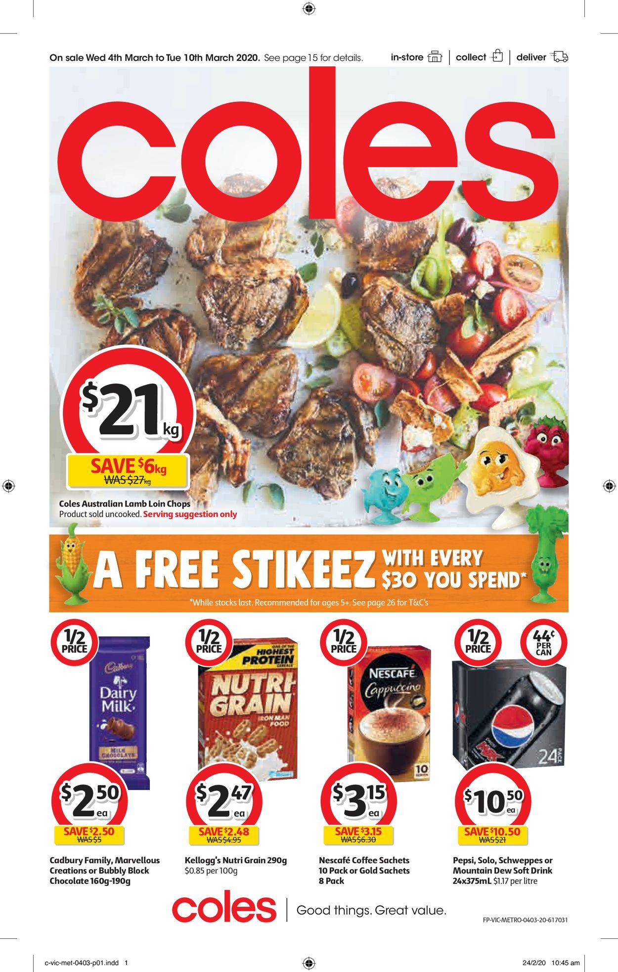 Coles Catalogue - 04/03-10/03/2020
