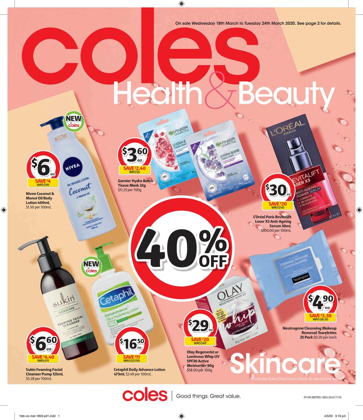 Coles Catalogue - 18/03-24/03/2020