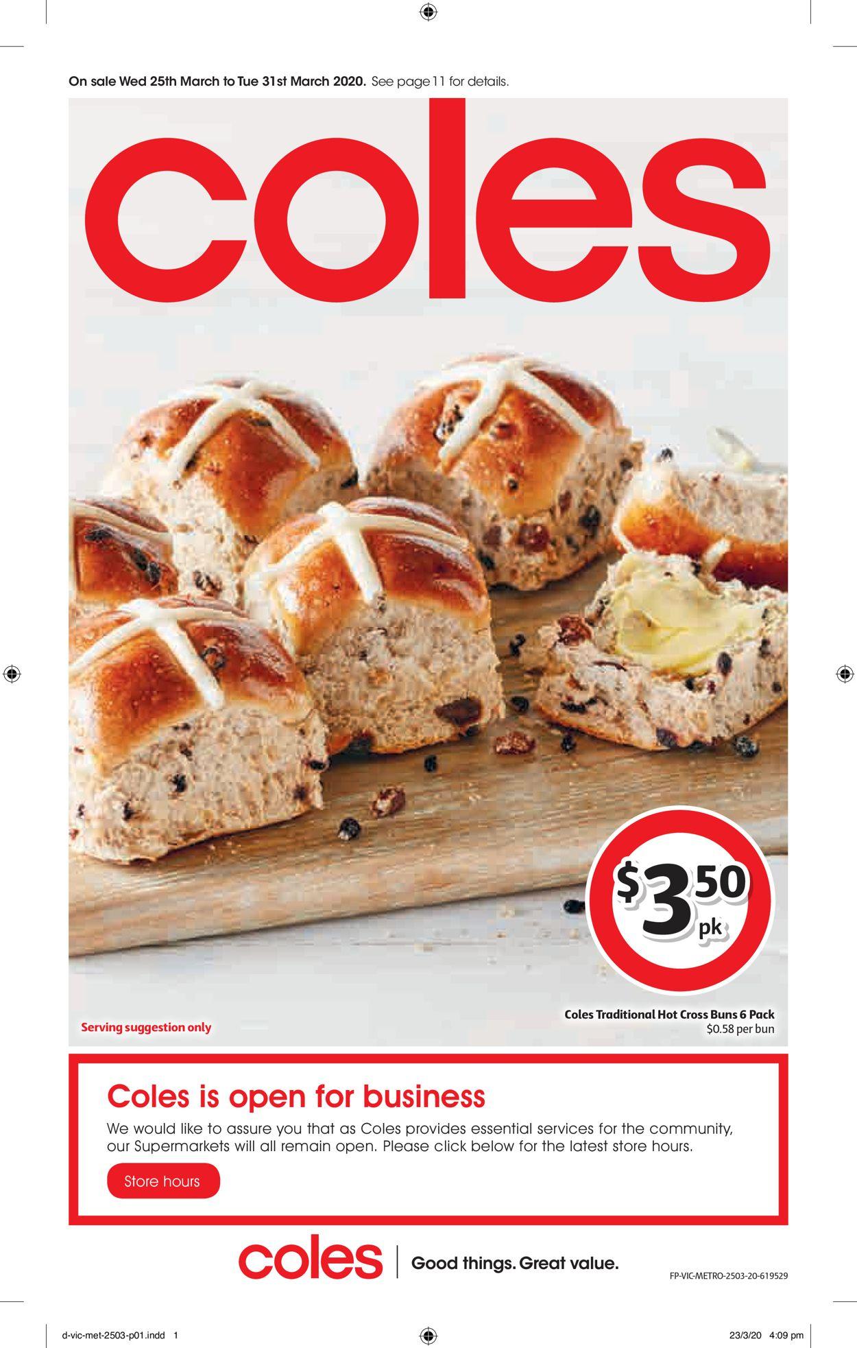 Coles Catalogue - 25/03-31/03/2020