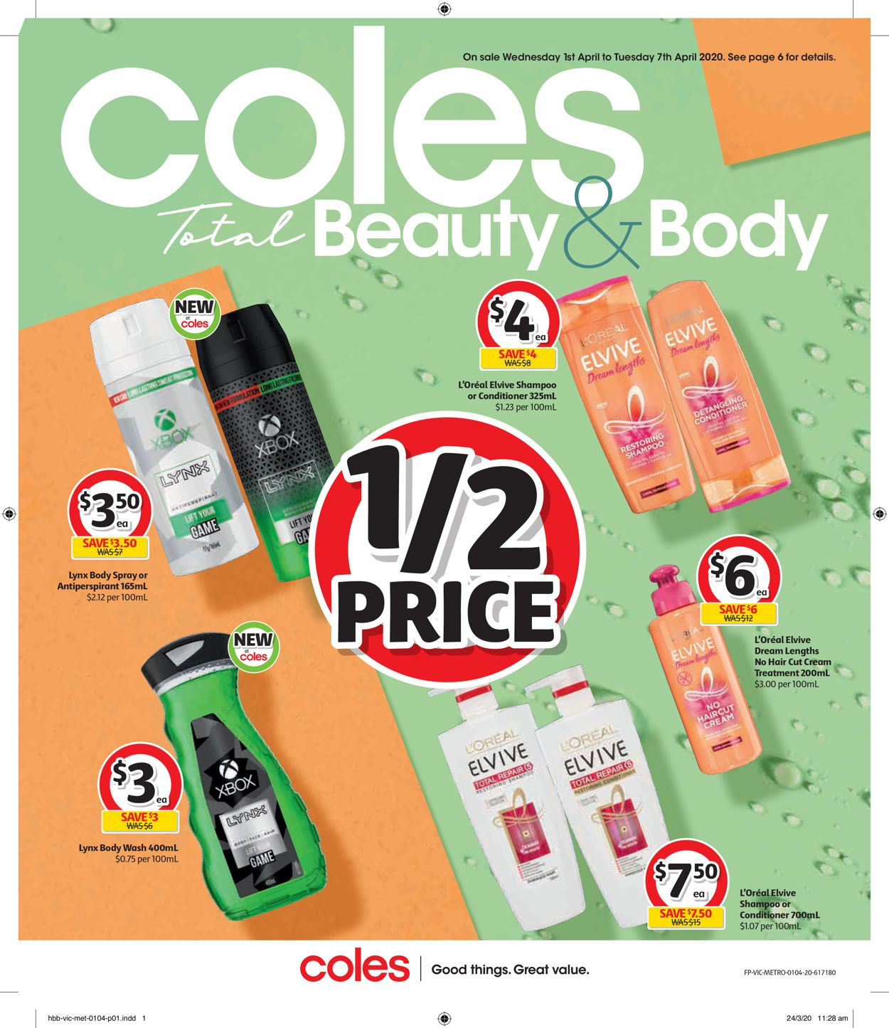 Coles Catalogue - 01/04-07/04/2020