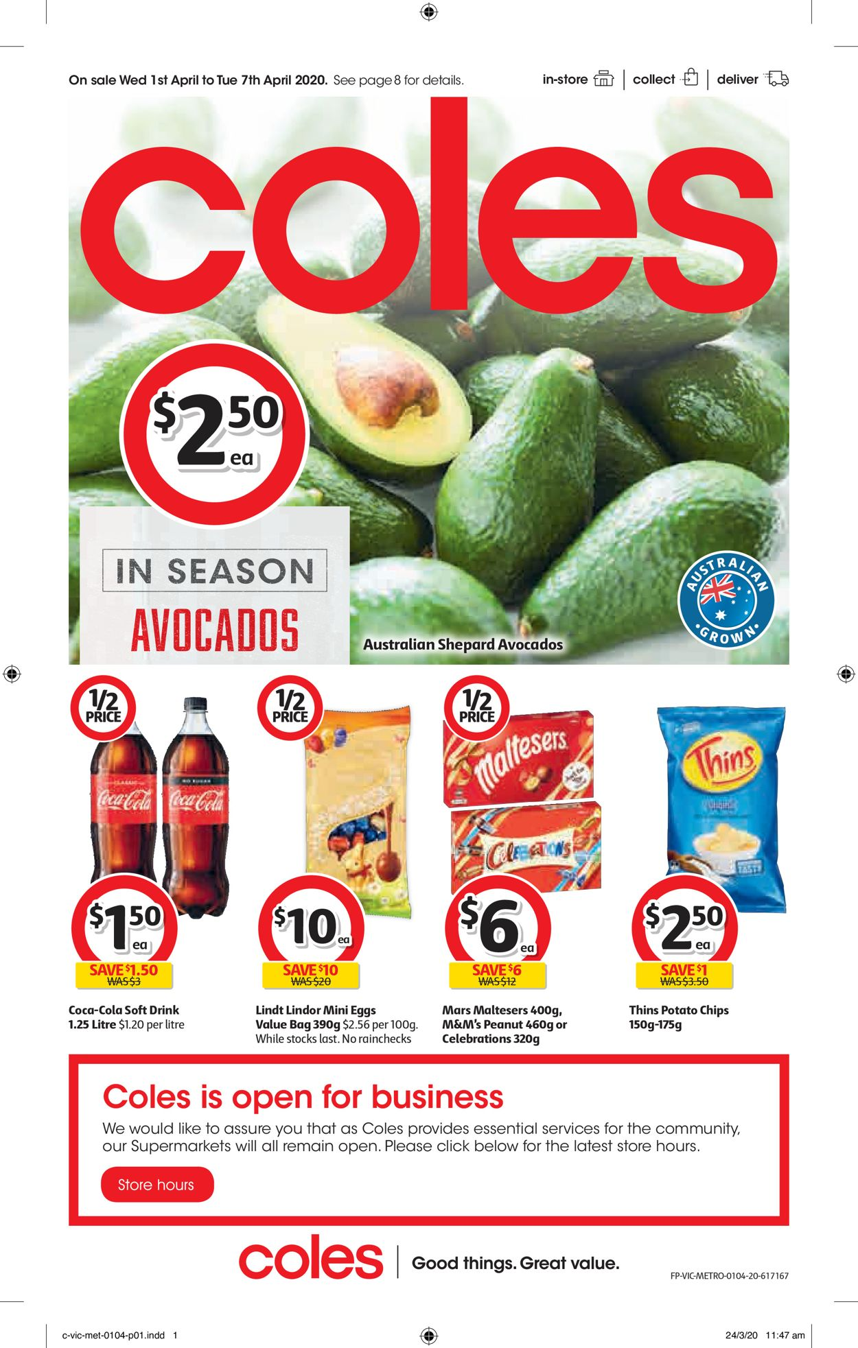 Coles Catalogue - 01/04-07/04/2020