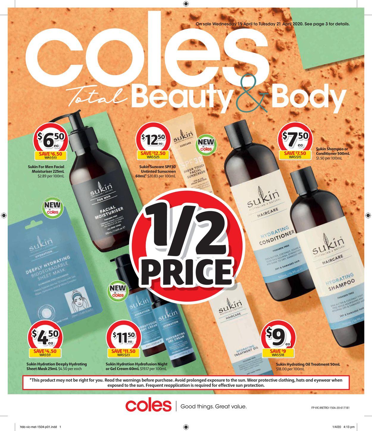 Coles Catalogue - 15/04-21/04/2020