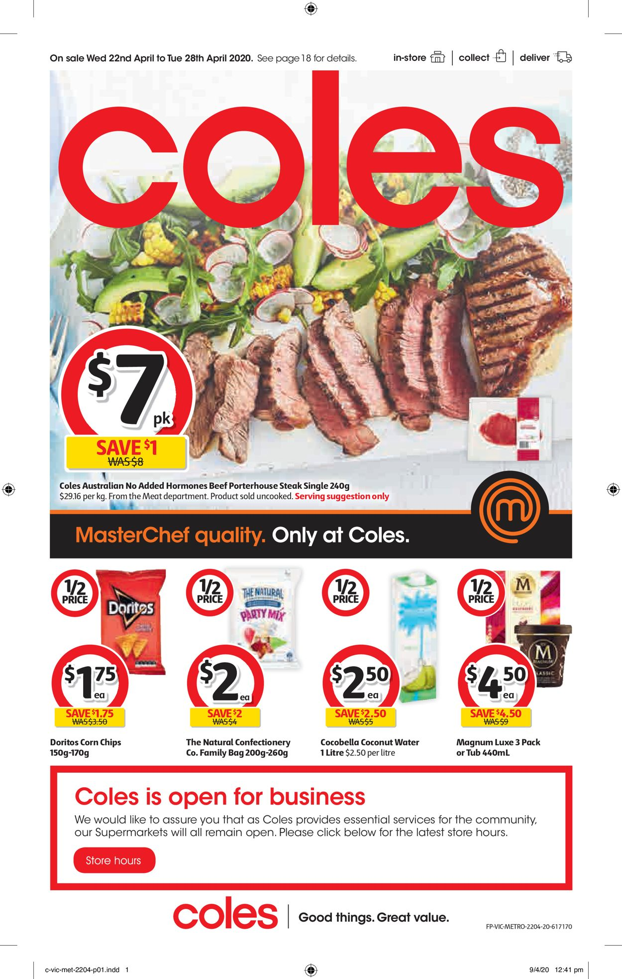 Coles Catalogue - 22/04-28/04/2020