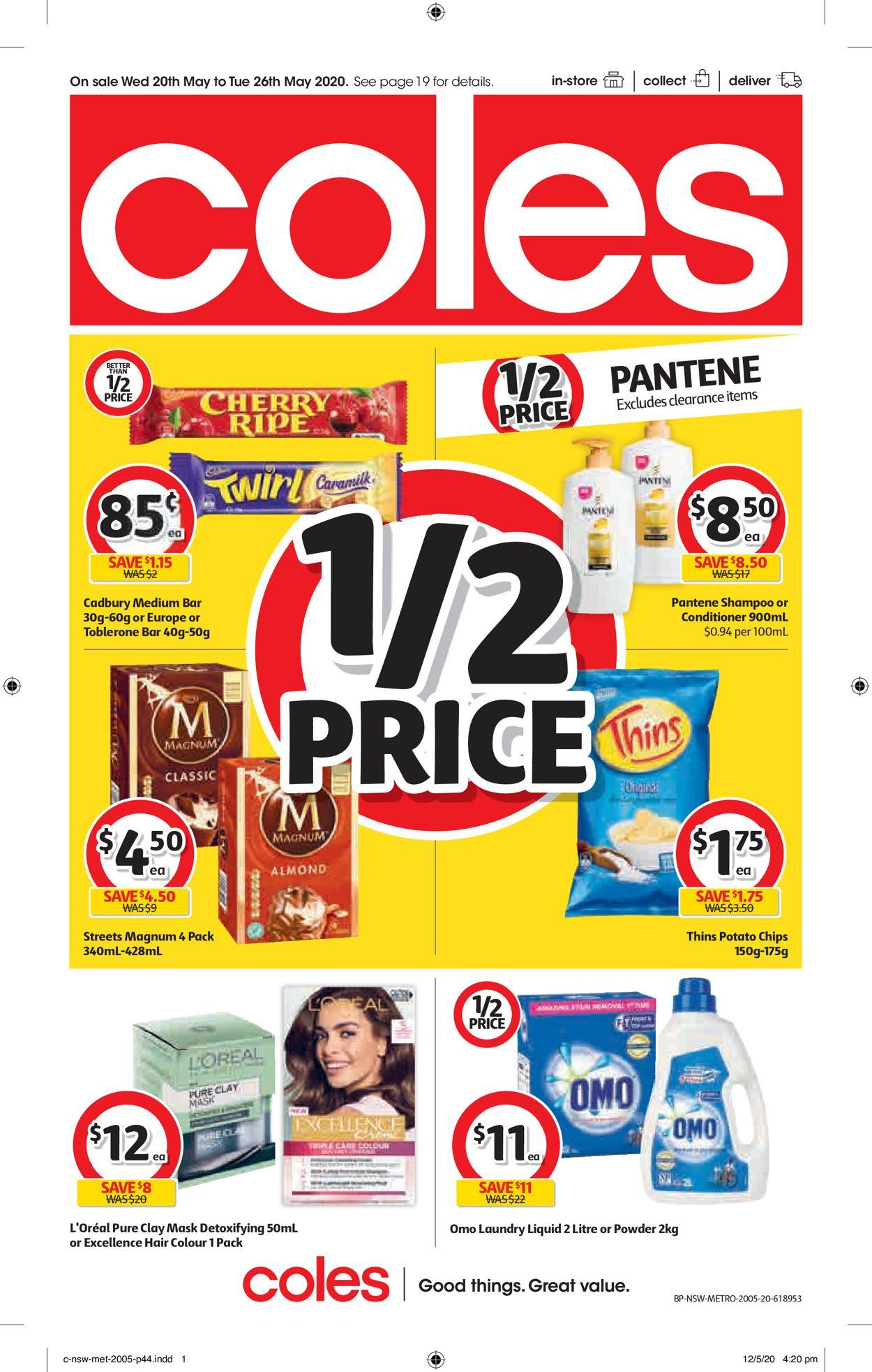 Coles Catalogue - 20/05-26/05/2020 (Page 44)