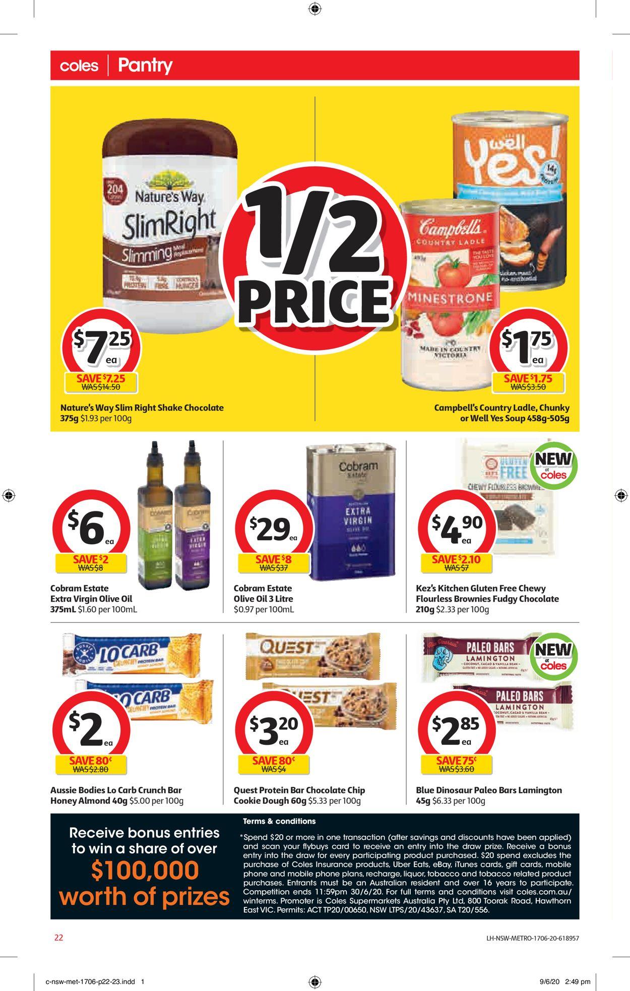 Coles Catalogue - 17/06-23/06/2020 (Page 22)