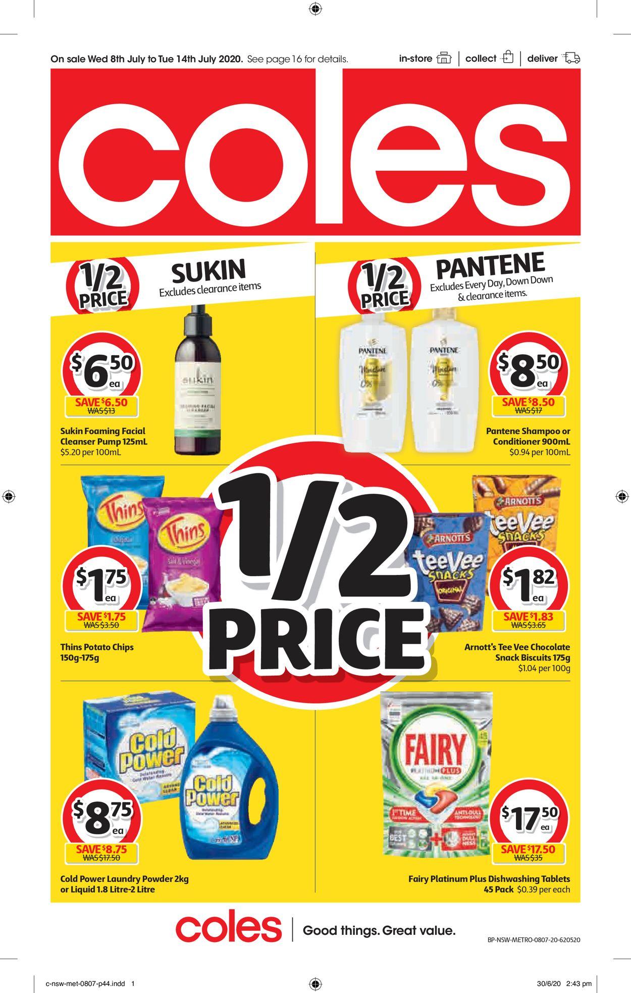 Coles Catalogue - 08/07-14/07/2020 (Page 44)